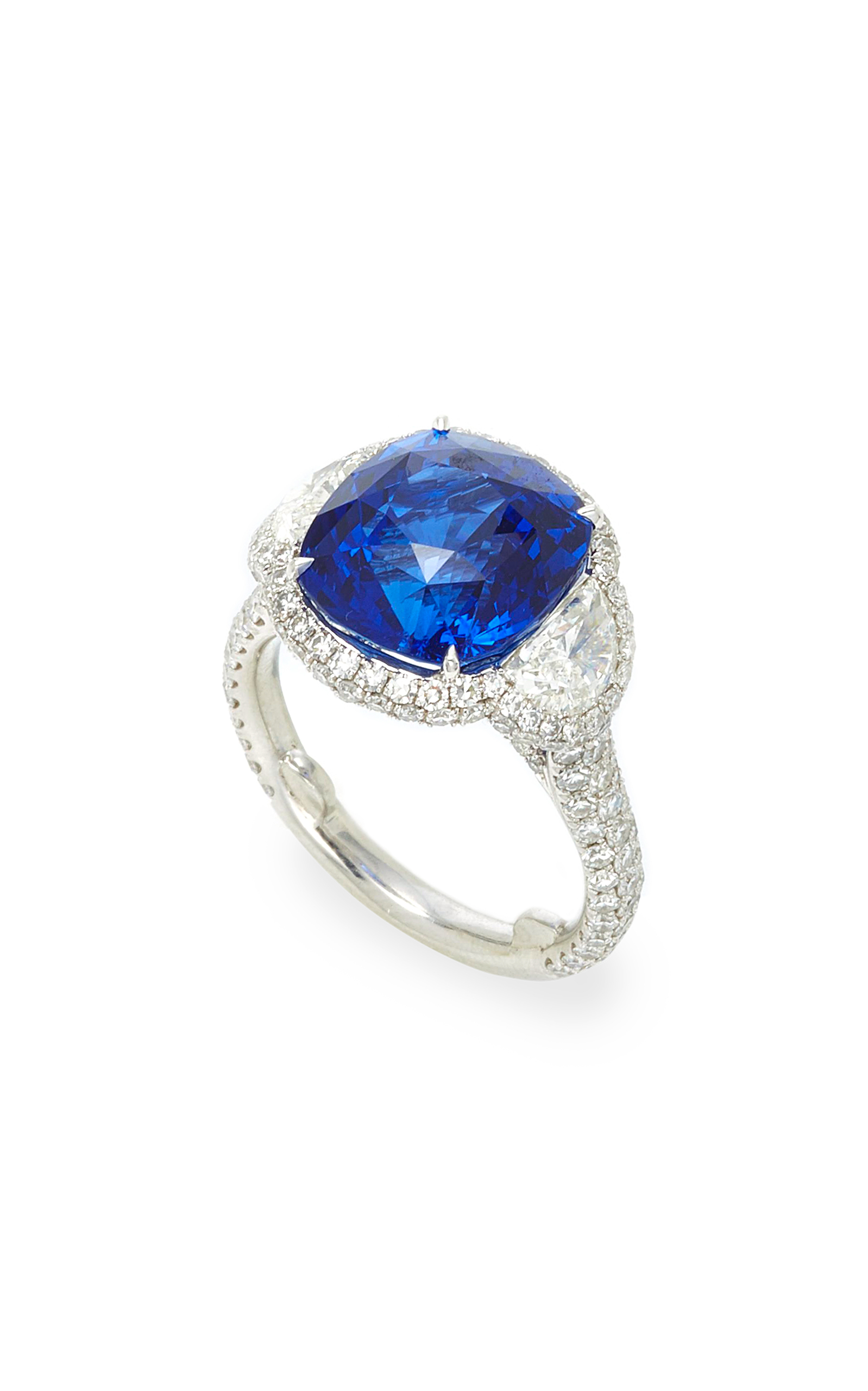 faberg blue devotion sapphire pin dark ring