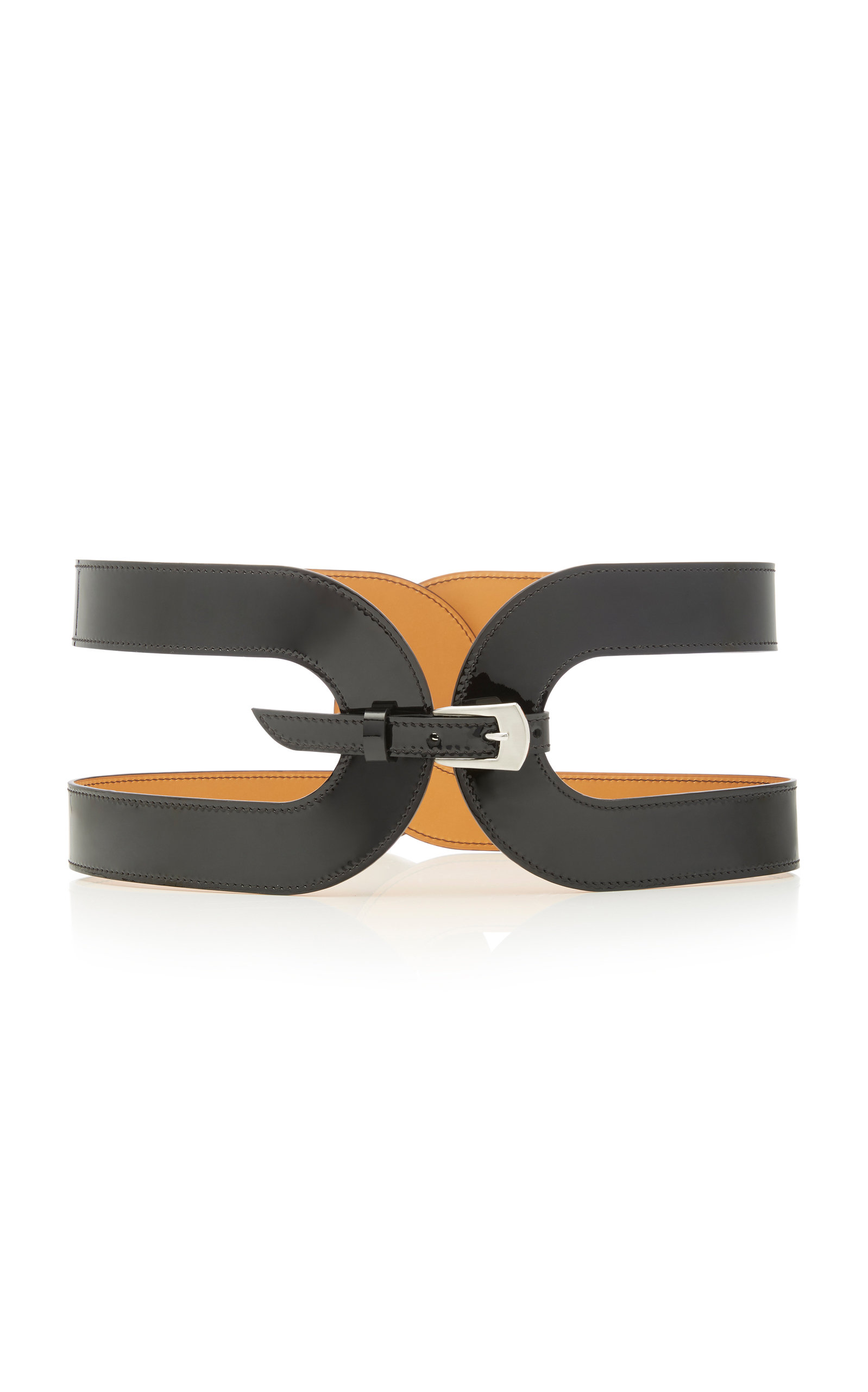 CAGE LEATHER BELT