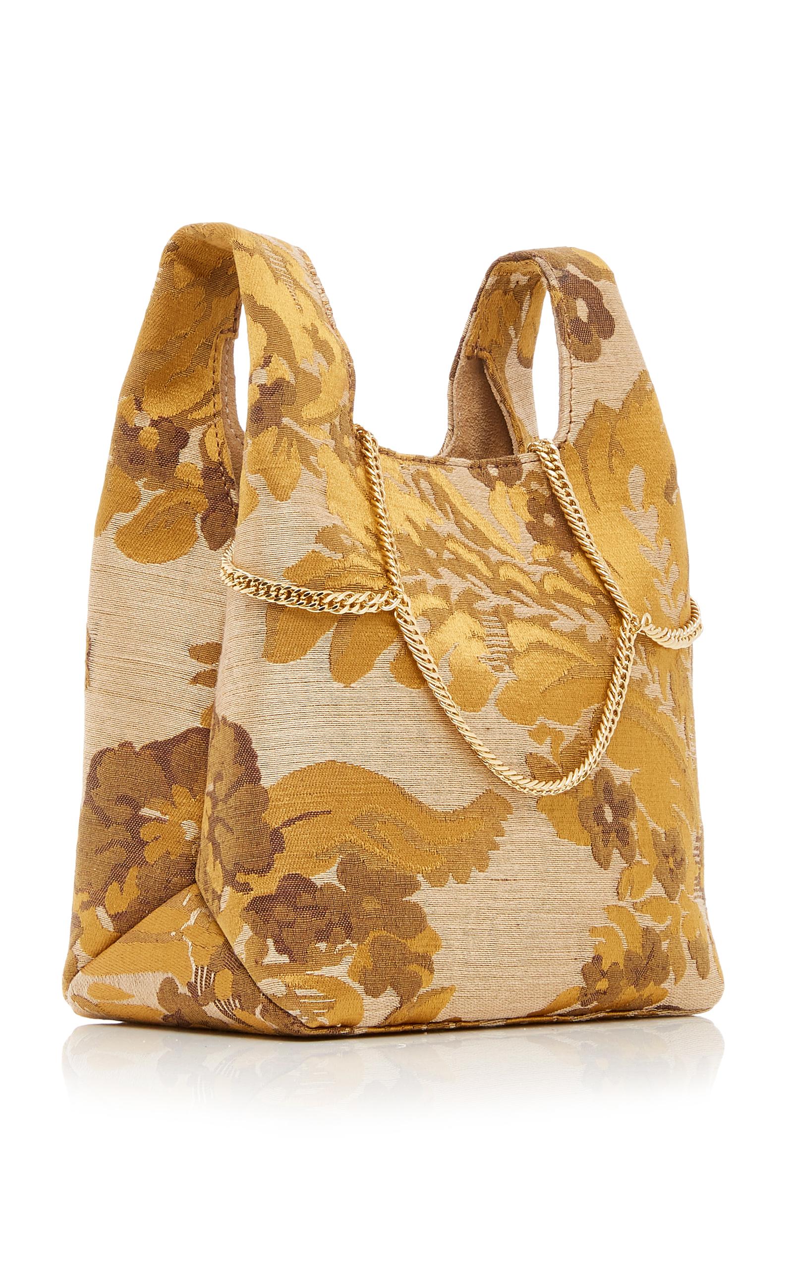 Hayward Mini Venetian Silk-Jacquard Shopper Tote xTGfGh17f