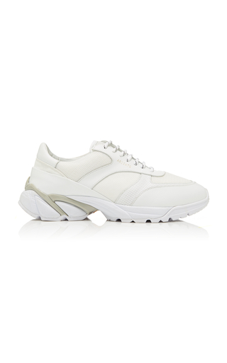AXEL ARIGATO | Axel Arigato Tech Runner Core Leather-Trimmed Mesh Sneakers | Goxip