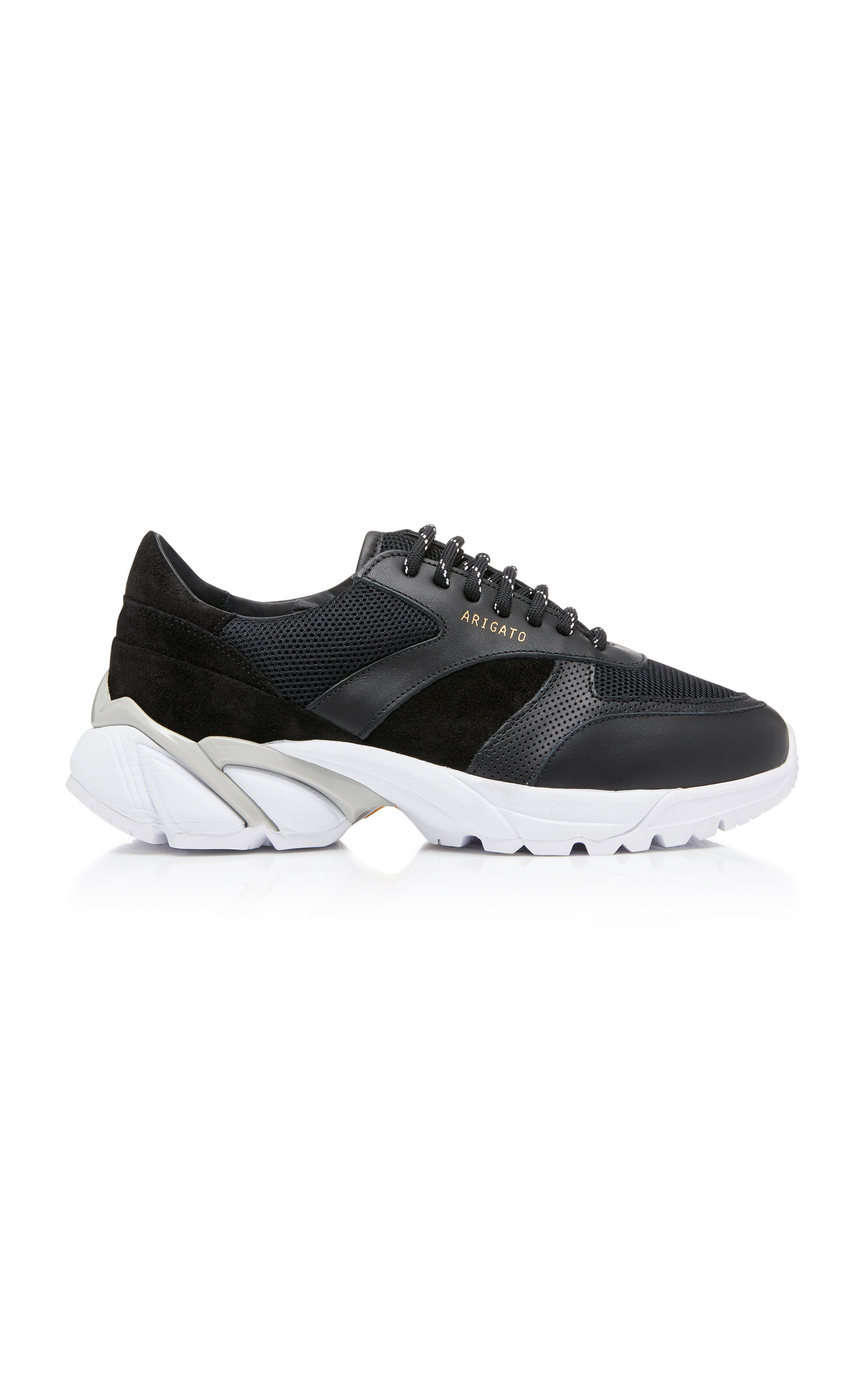 Axel Arigato TECH RUNNER CORE LEATHER-TRIMMED MESH SNEAKERS