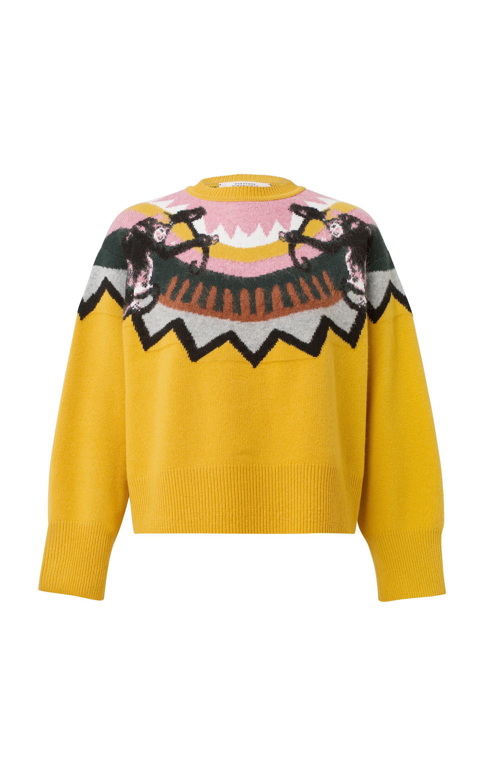 DOROTHEE SCHUMACHER Multicolor Warm Honey Wild Wonder Pullover in Yellow