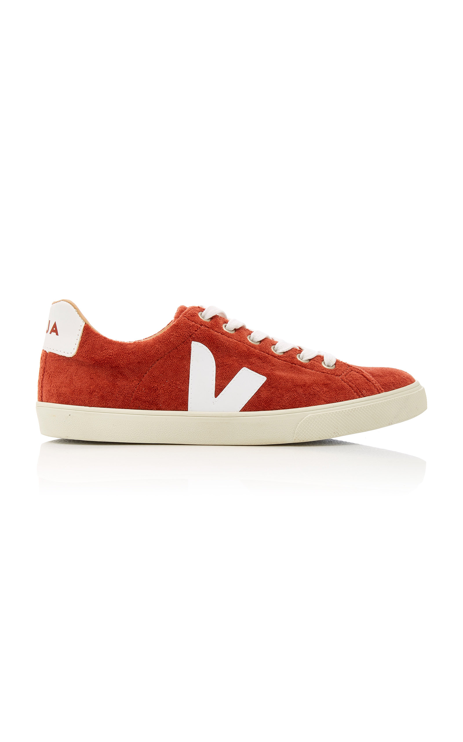 VEJA ESPLAR LEATHER-TRIMMED SUEDE SNEAKERS