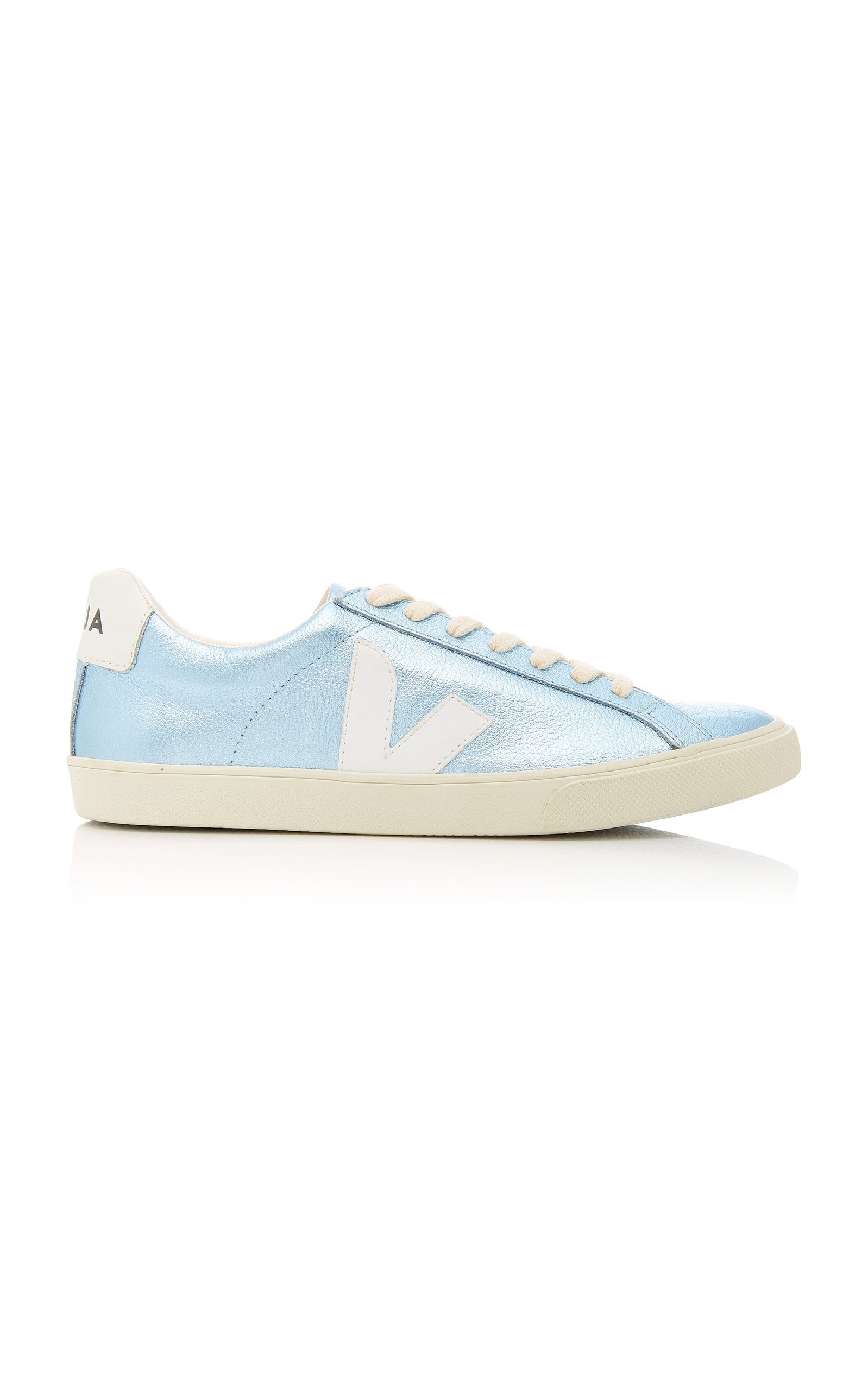 VEJA ESPLAR METALLIC LEATHER SNEAKERS