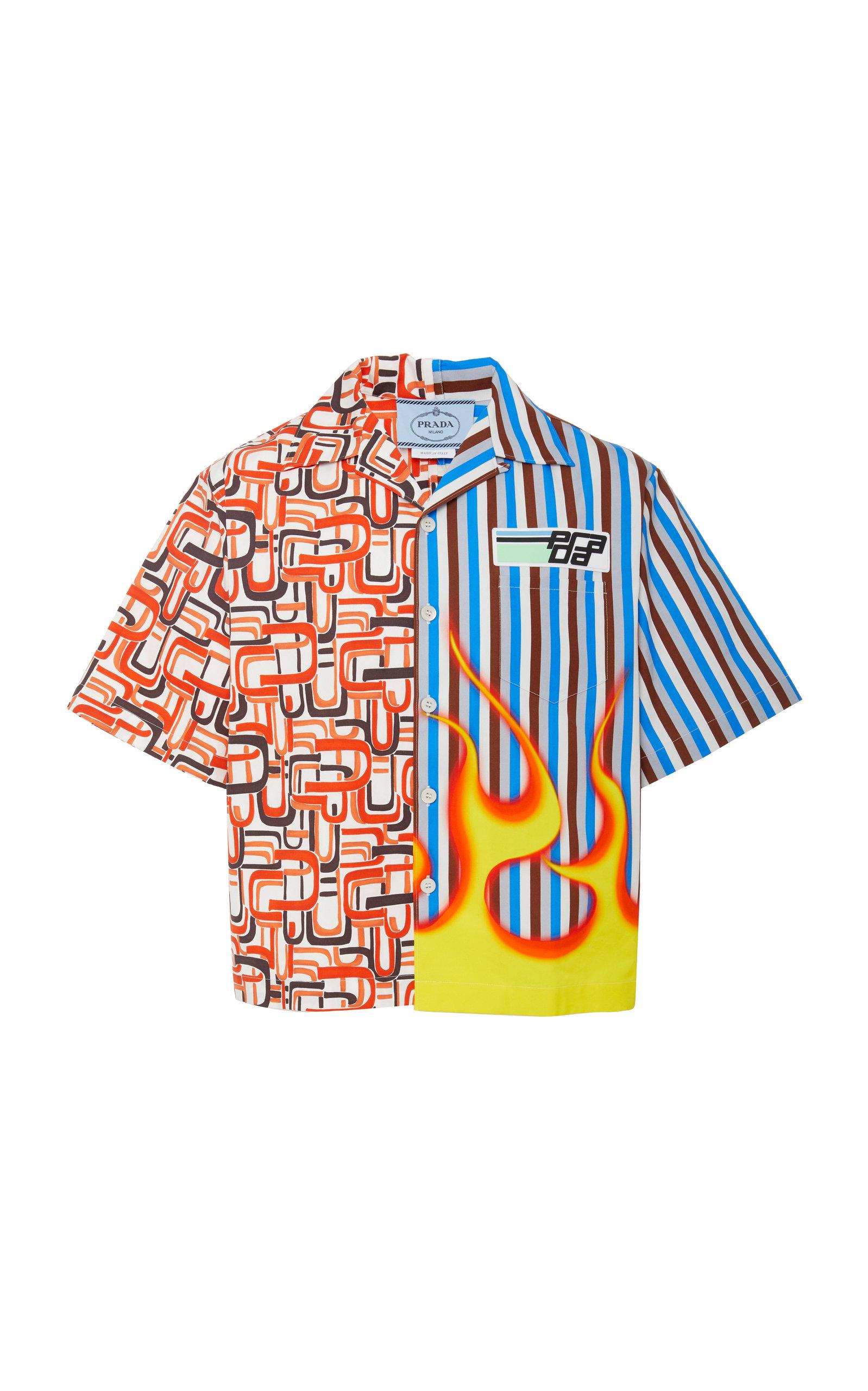 157adecc0e Retro Printed Cotton-Poplin Shirt