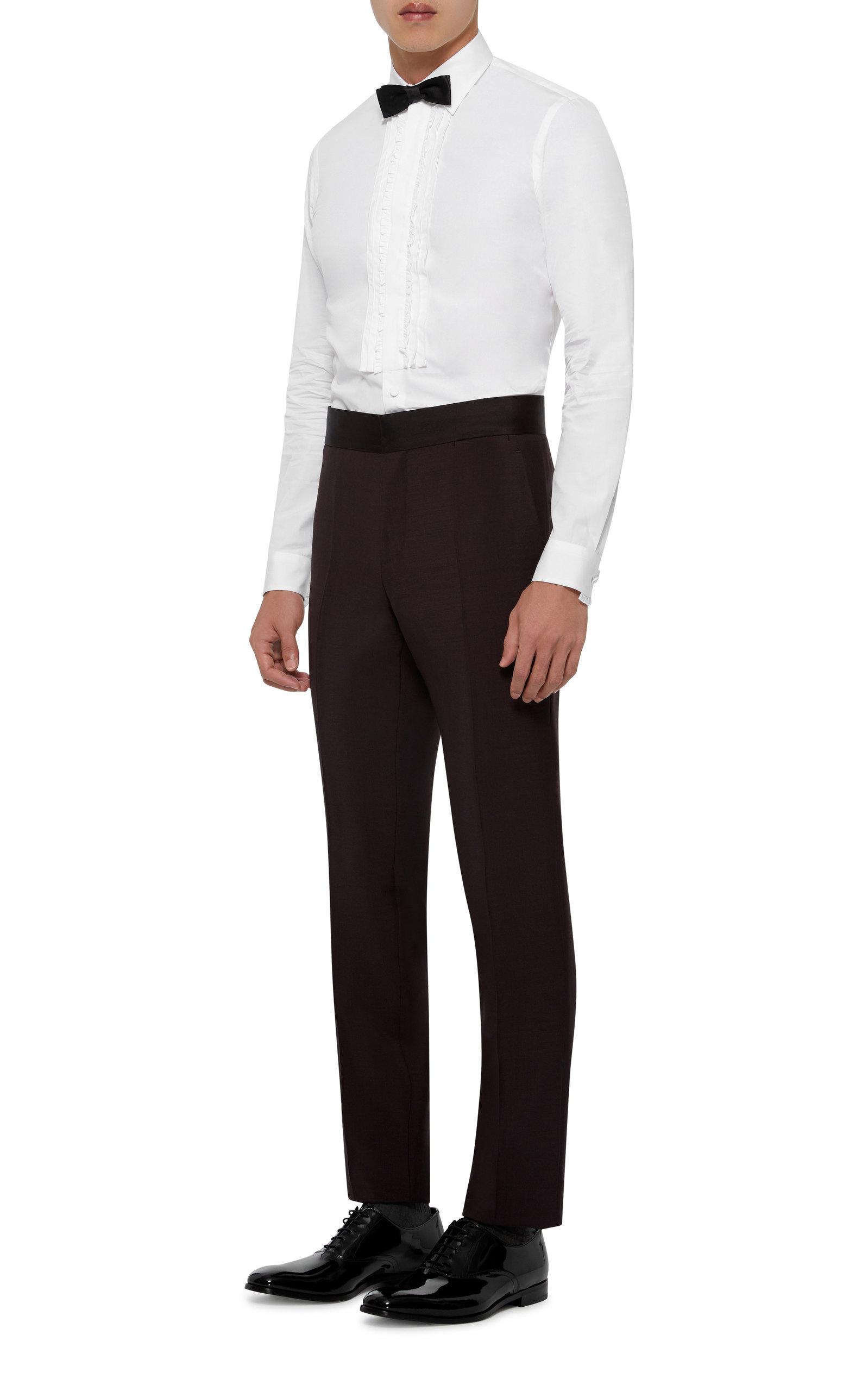 f02c5648fb Pleated Cotton-Poplin Tuxedo Shirt