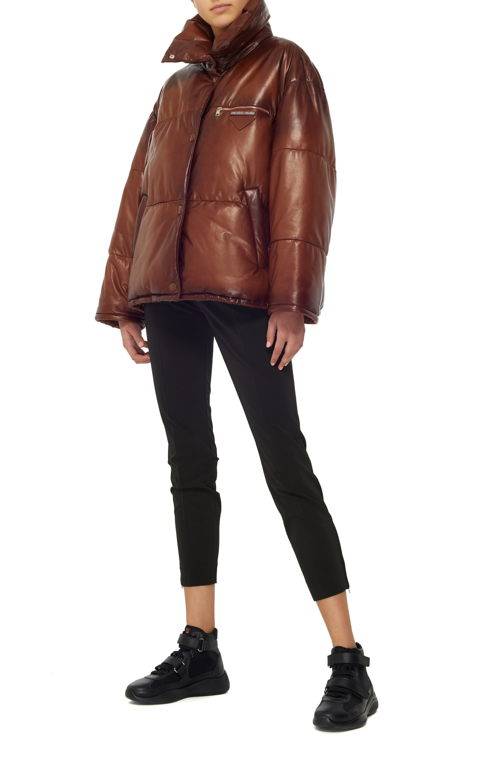 14afd194a Leather Puffer Coat