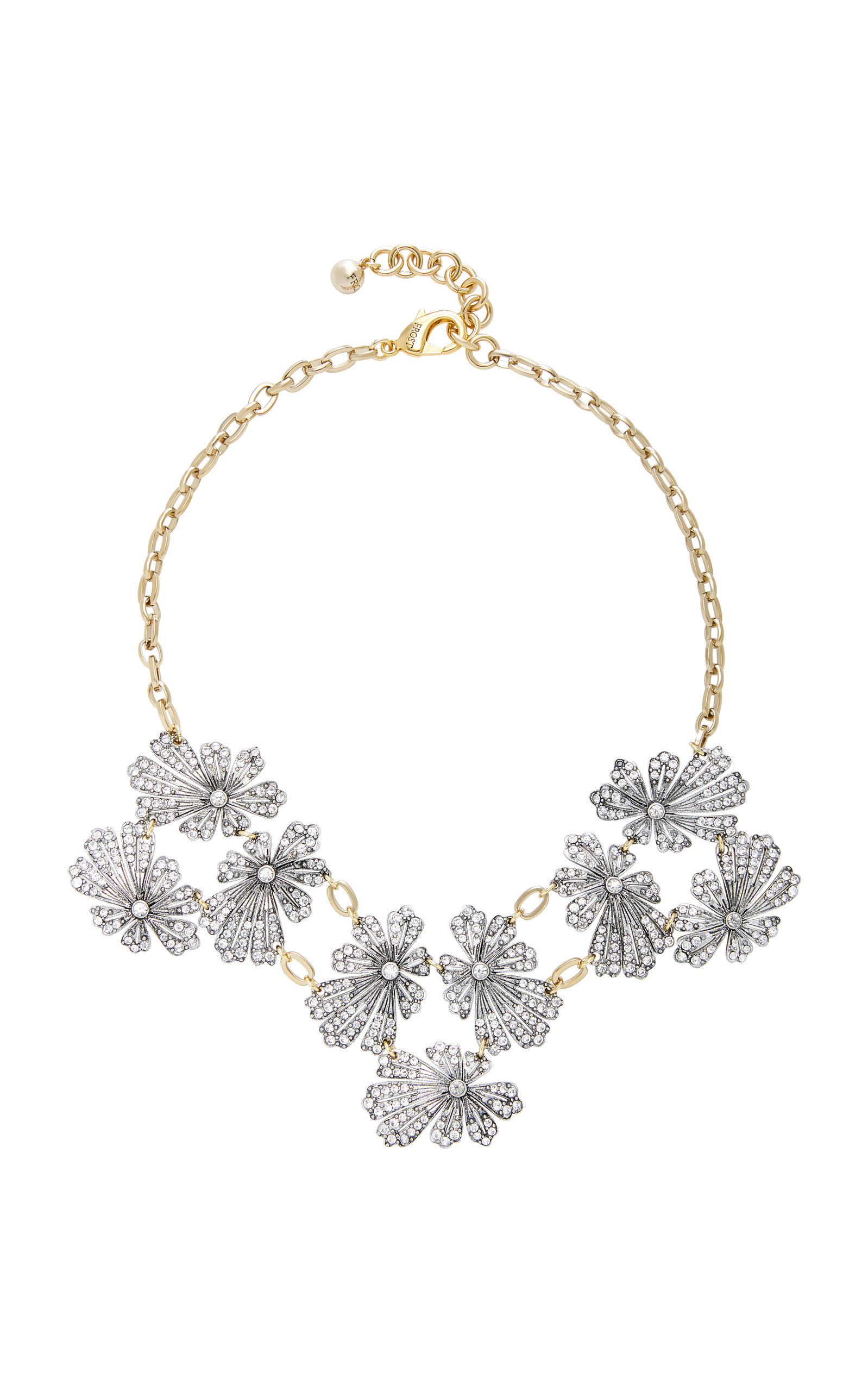 Camellia Silver and Gold-Plated Brass Necklace Lulu Frost o8Bt73mP