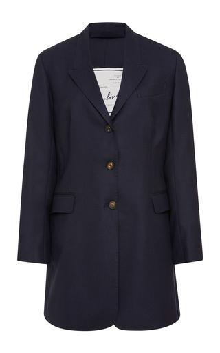 GIULIVA HERITAGE COLLECTION   Giuliva Heritage Collection Karen Belted Wool-Crepe Blazer   Goxip