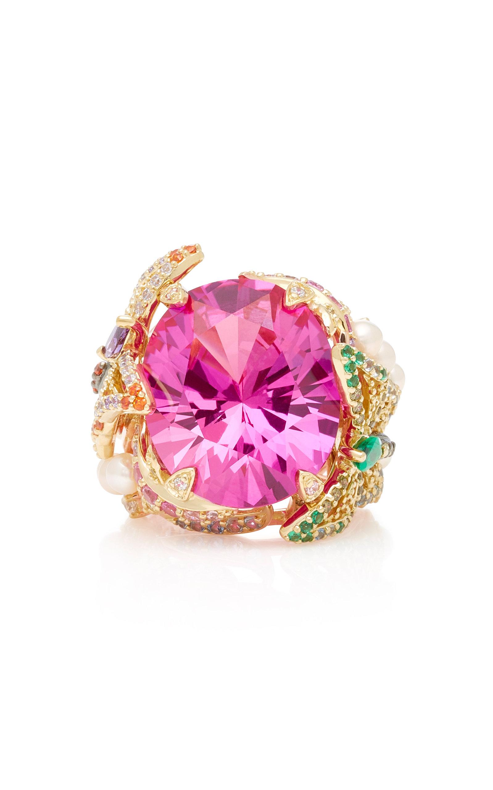 ANABELA CHAN ROSE SWALLOWTAIL PINK SAPPHIRE RING