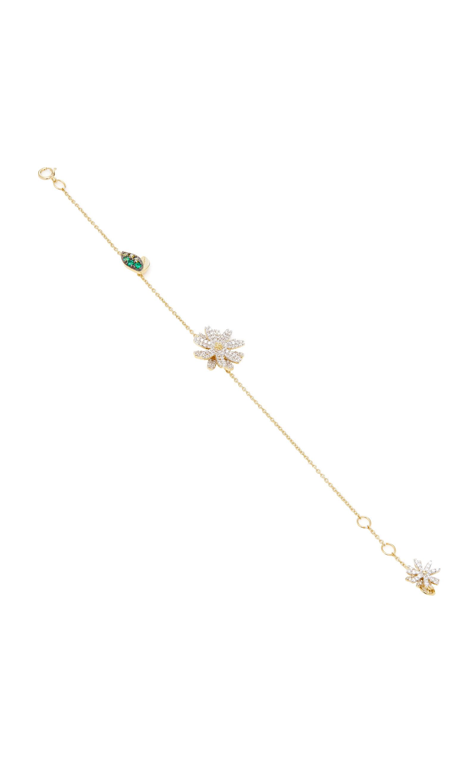 Anabela Chan Daisy 14K Gold And Diamond Bracelet