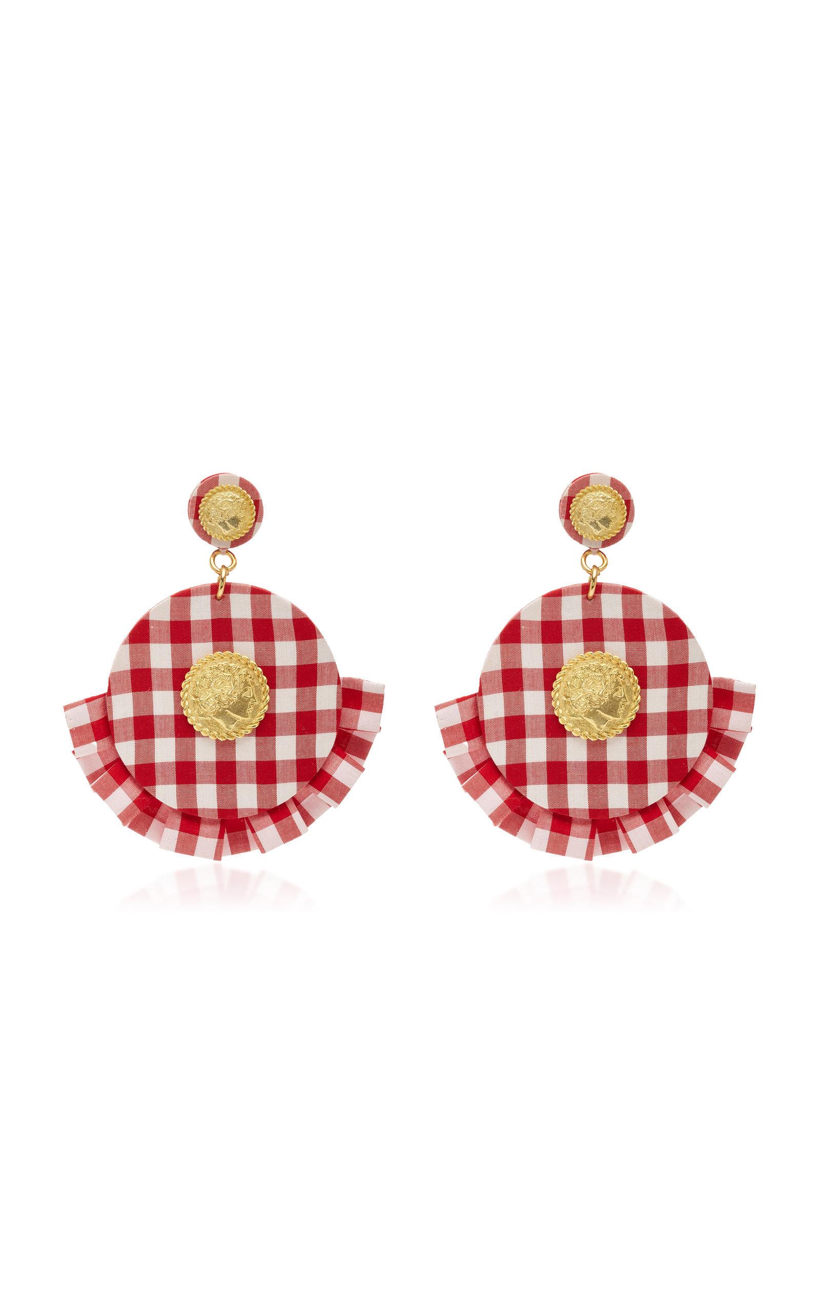 Caroline Constas Multicolored Diamond Ruffle Earrings NCNerjS