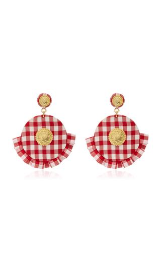 Striped Diamond Ruffle Earrings Caroline Constas lcHkq2ke