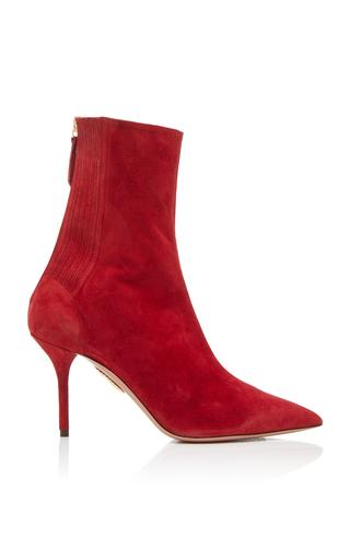 AQUAZZURA | Aquazzura Saint Honore Suede Ankle Boots | Goxip