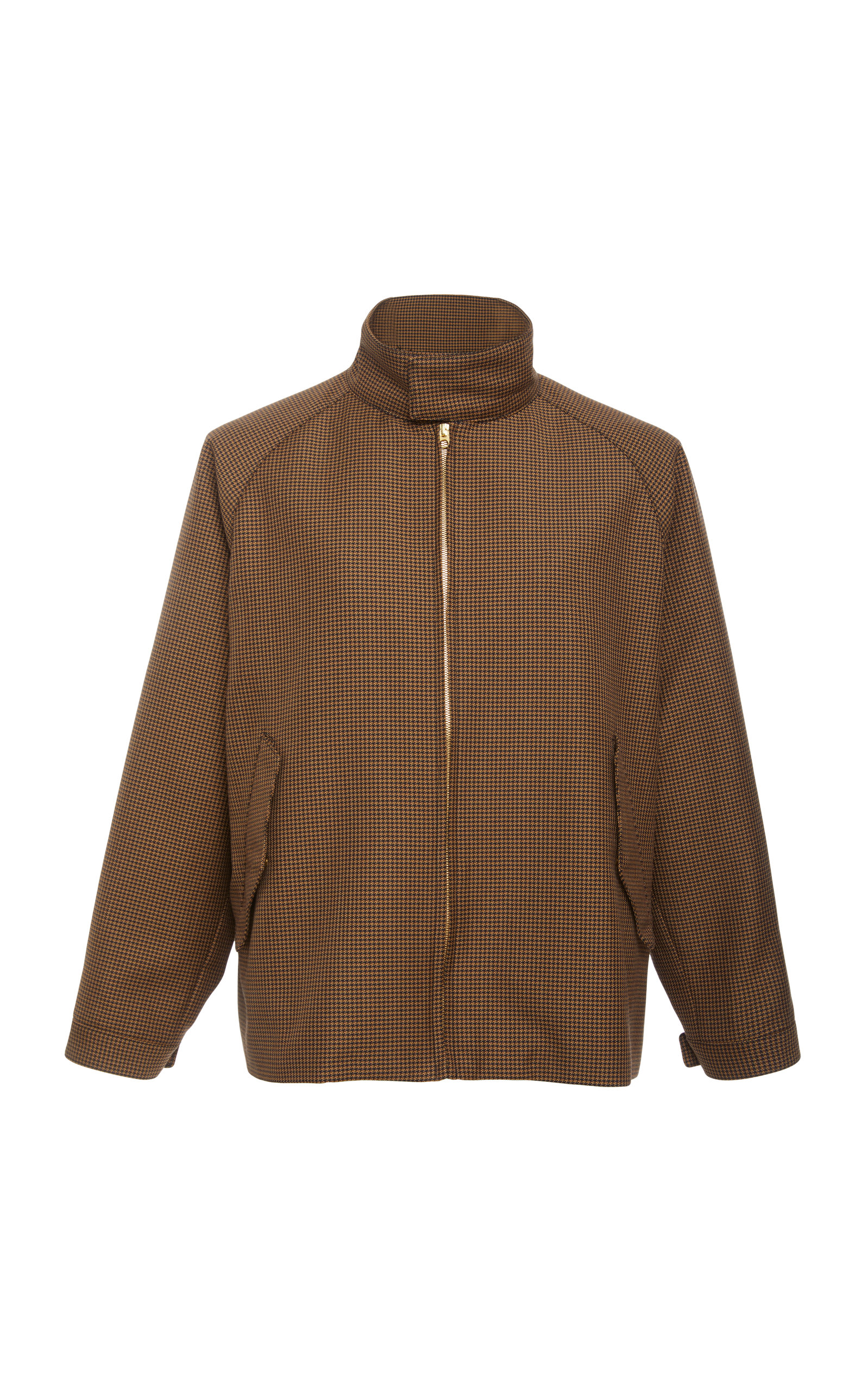 CAMOSHITA No-Collar Zip Jacket in Multi
