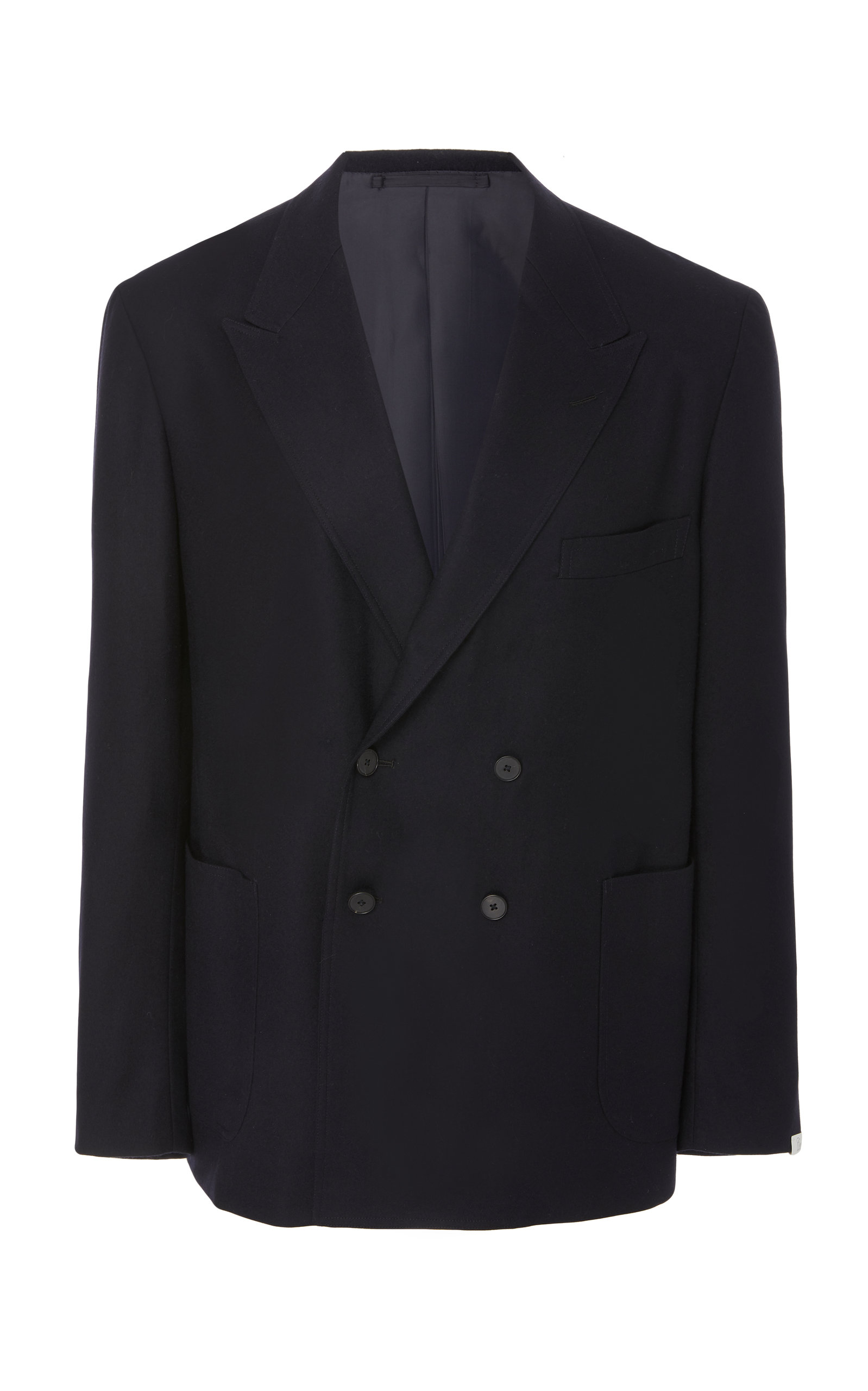 CAMOSHITA Double-Breasted Sports Jacket in Navy