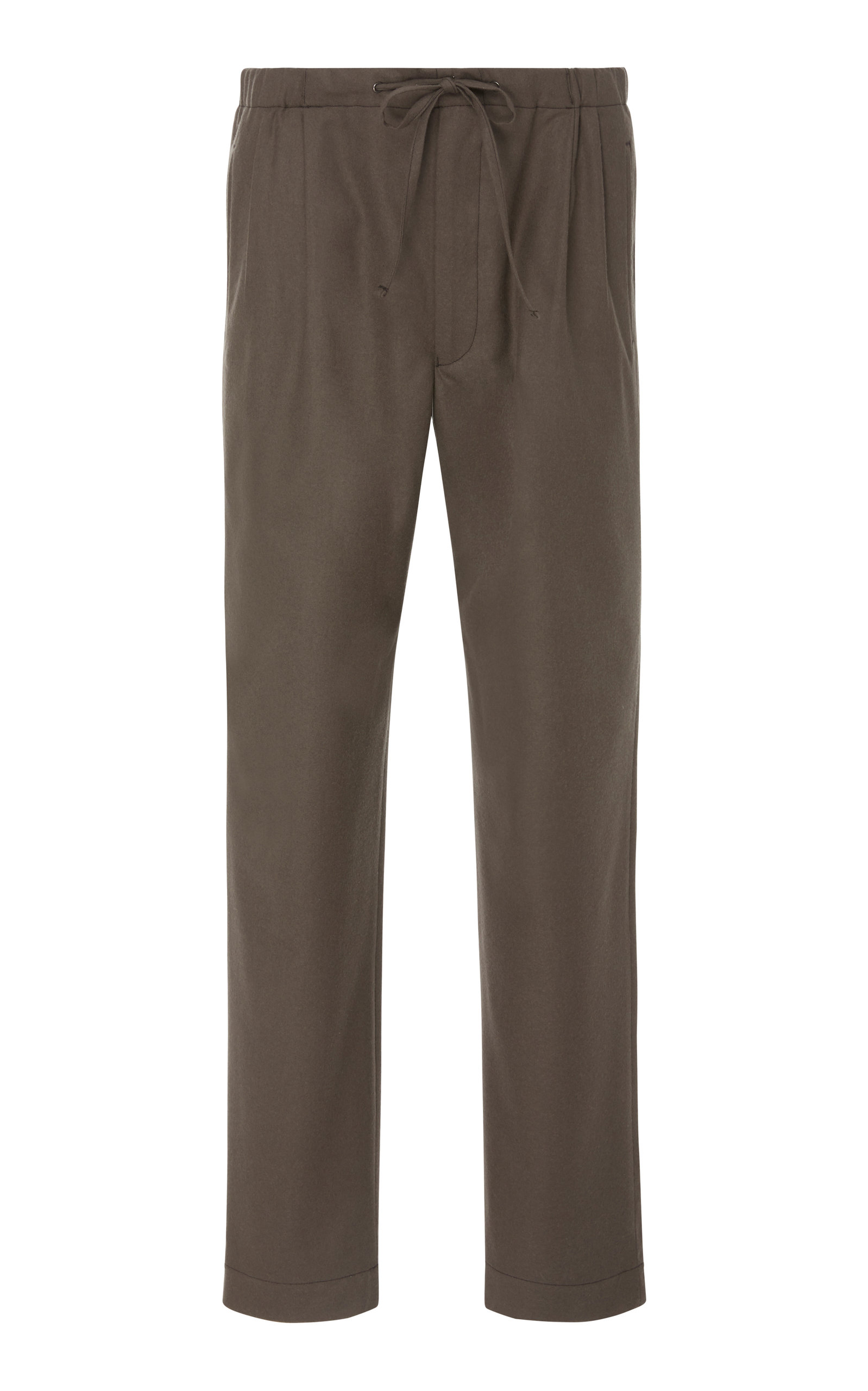 CAMOSHITA Pleated Drawstring Trousers in Grey