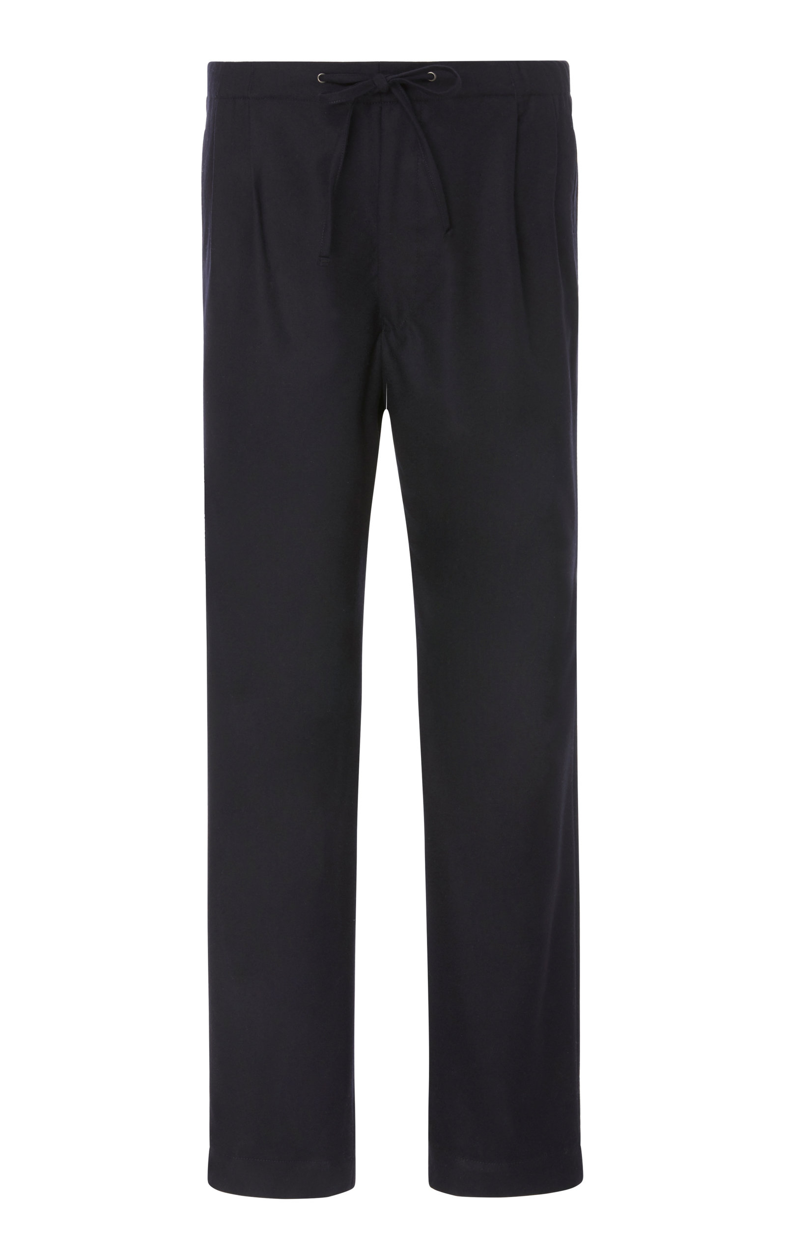 CAMOSHITA Pleated Drawstring Trousers in Navy