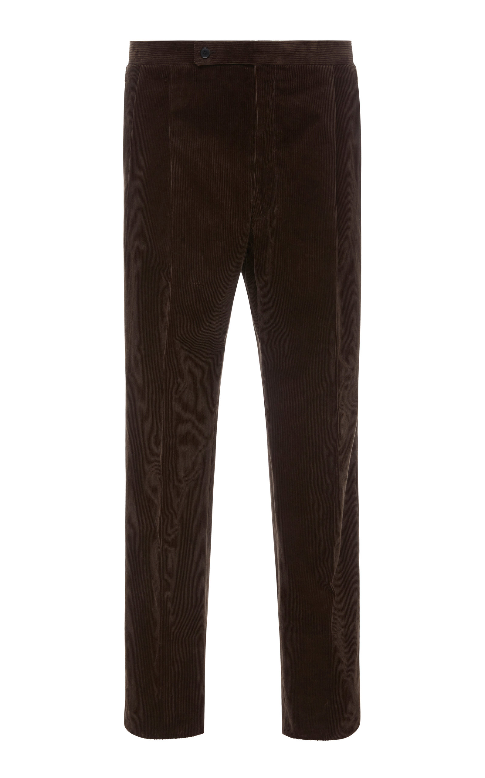 CAMOSHITA Corduroy Box Pleat Dress Pants in Brown