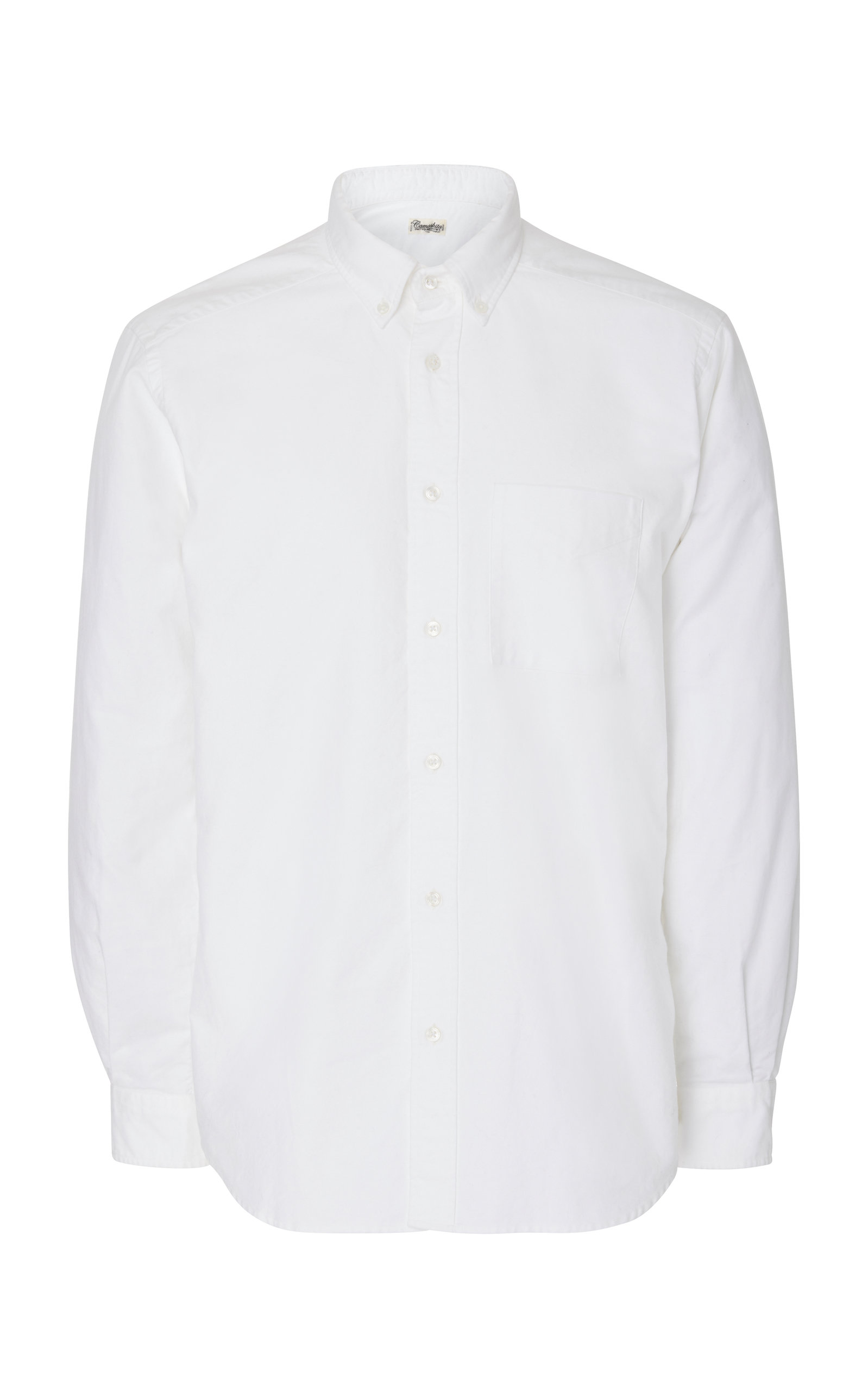 CAMOSHITA Button-Down Oxford Dress Shirt in White