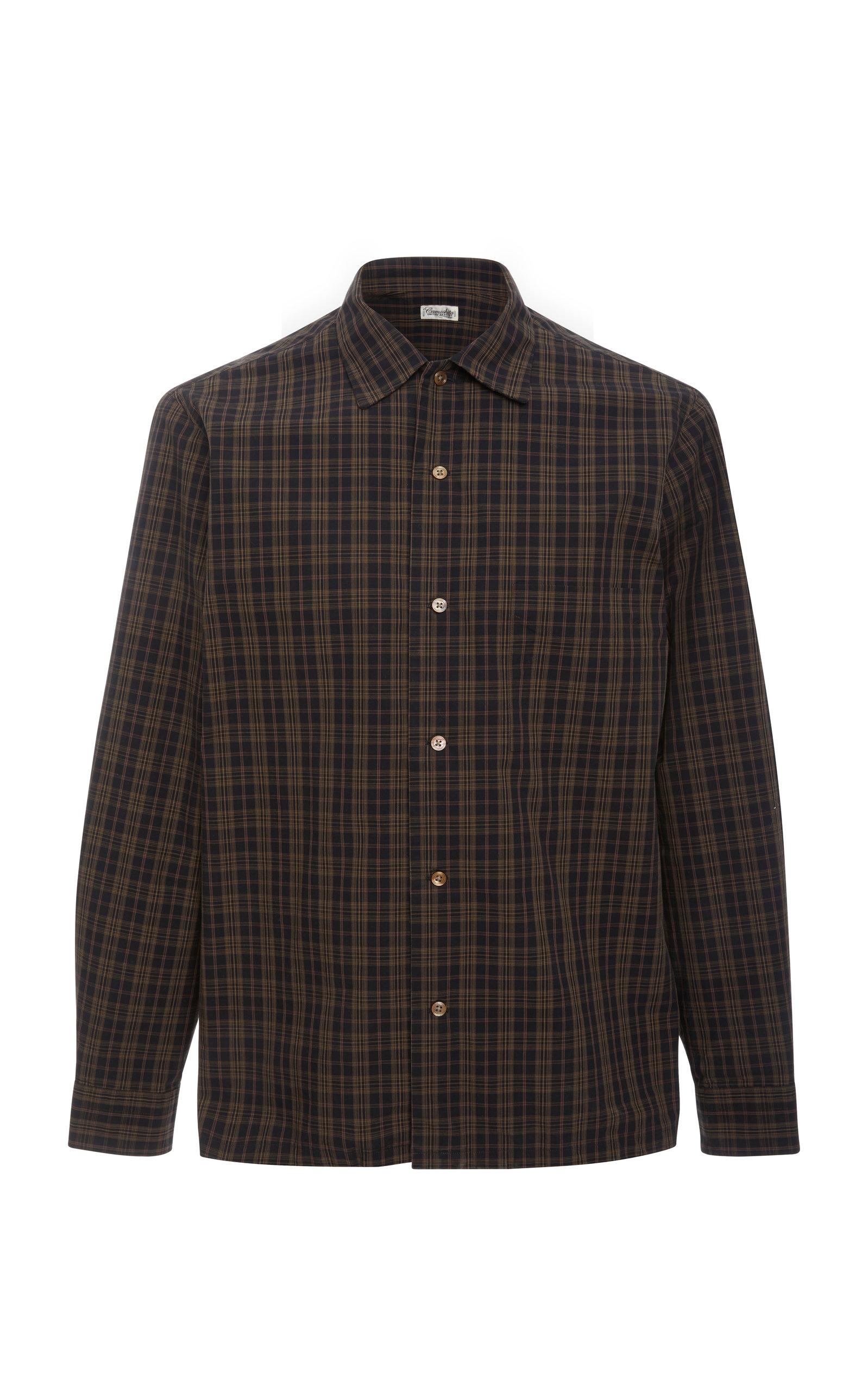 CAMOSHITA Collared Plaid Shirt