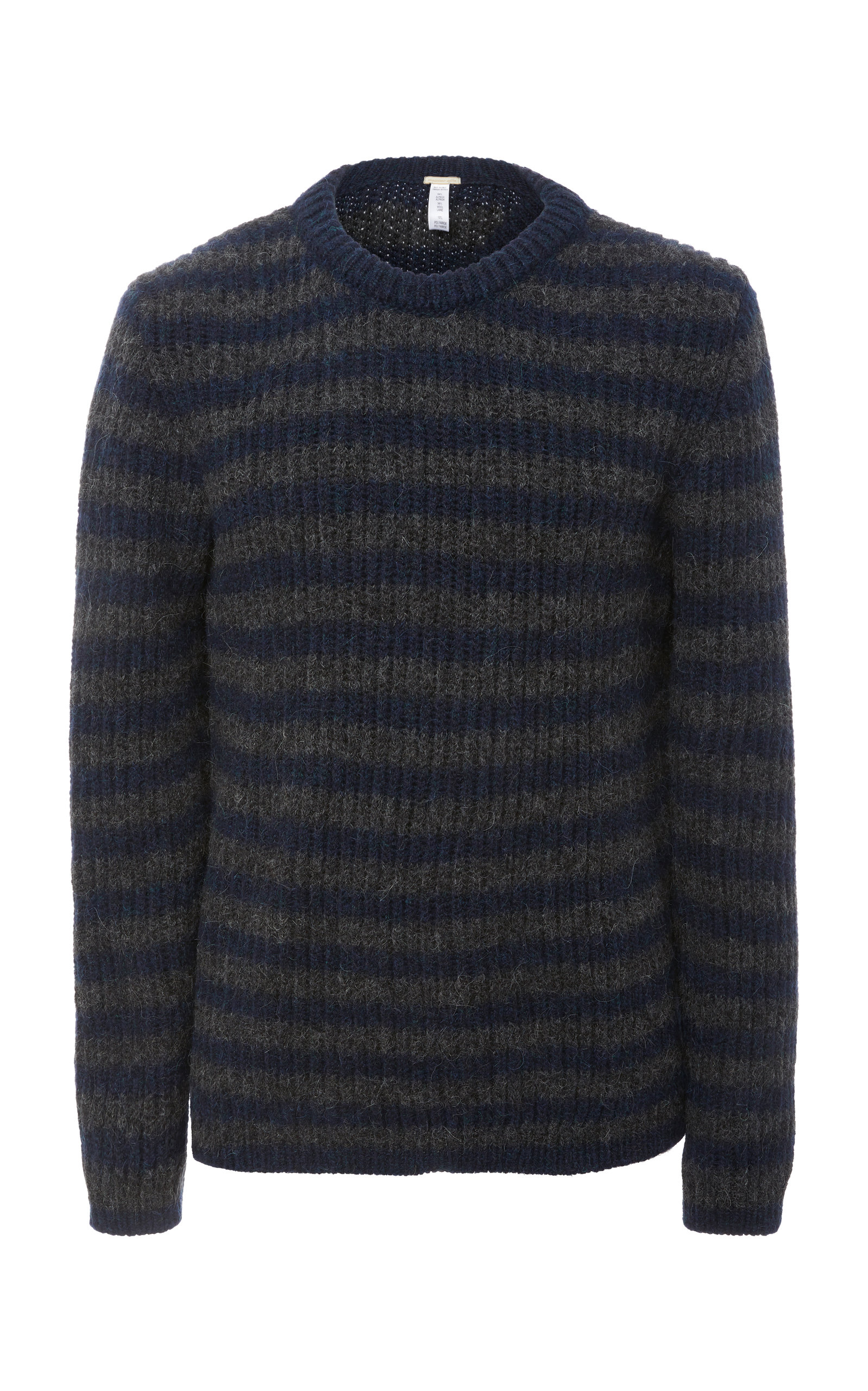 MASSIMO ALBA STRIPED WOOL CREWNECK SWEATER