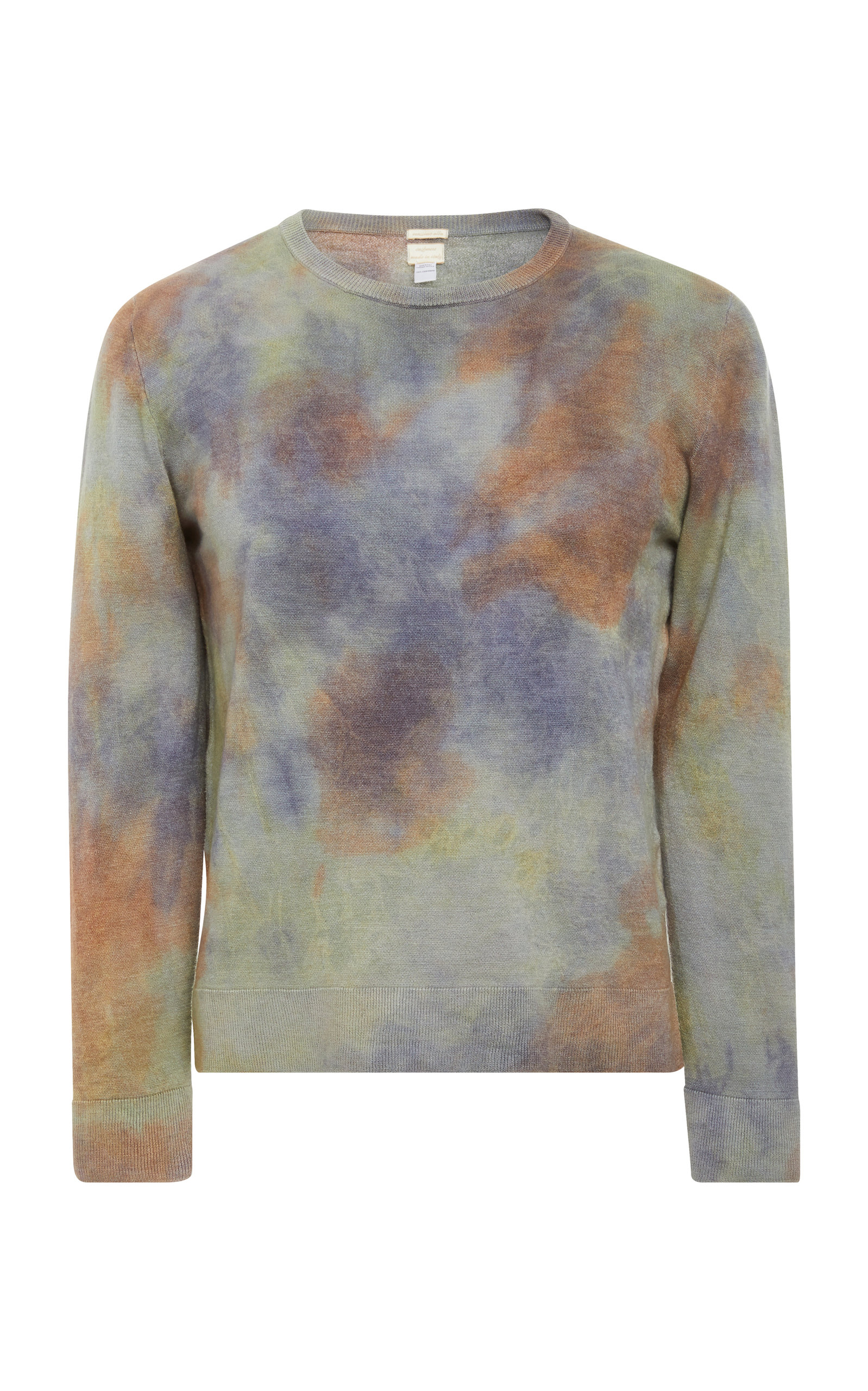 MASSIMO ALBA Tie-Dyed Cashmere Sweater - Light Green in Multi