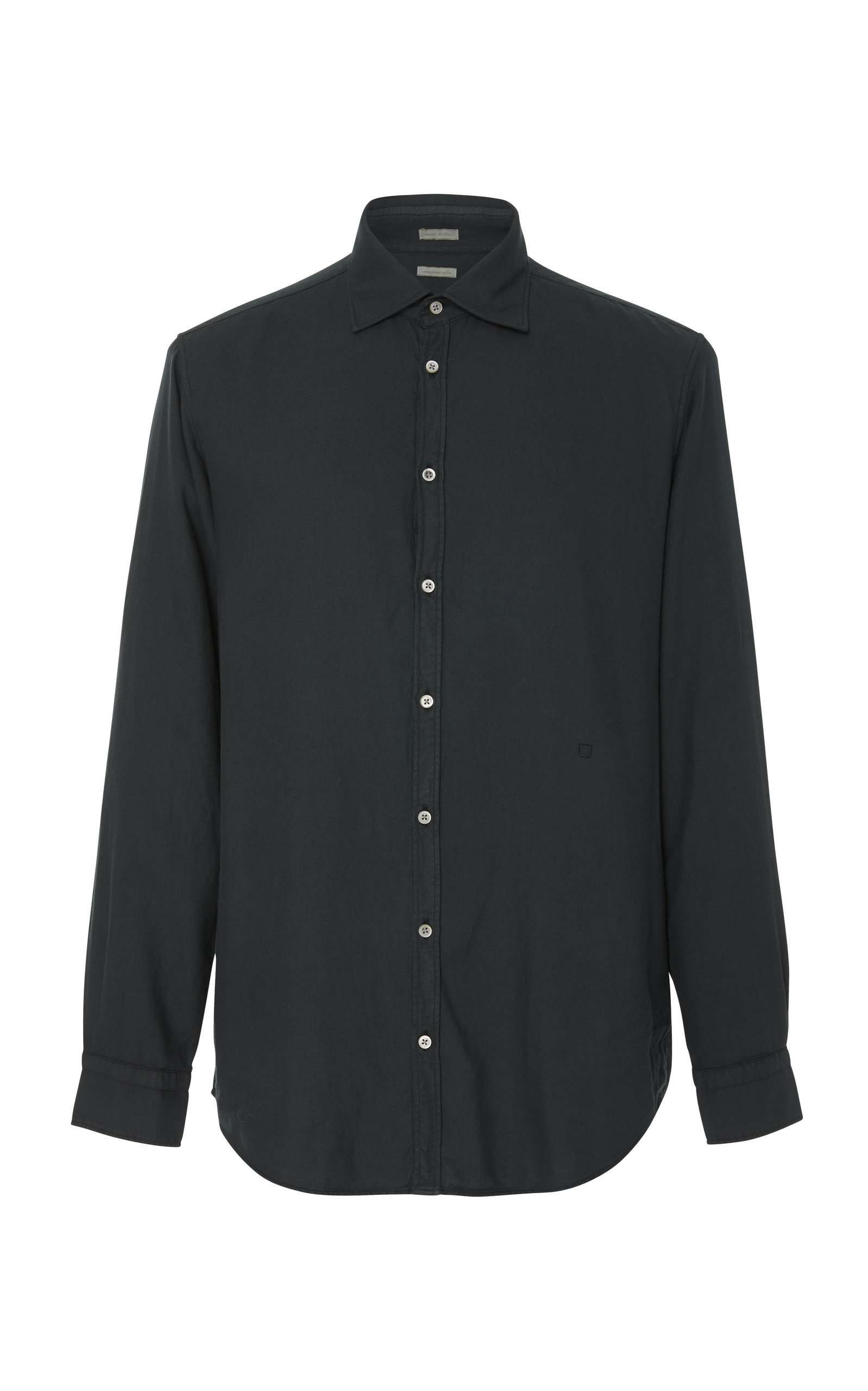 MASSIMO ALBA SPREAD COLLAR BUTTON-UP SHIRT