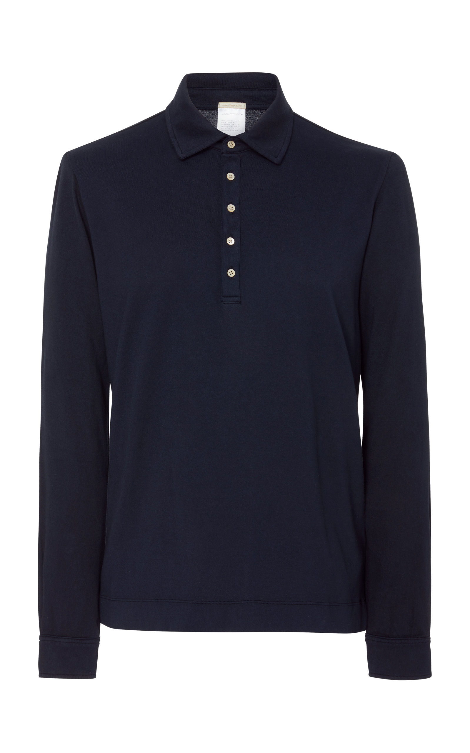 MASSIMO ALBA LONG SLEEVE CASHMERE-BLEND POLO