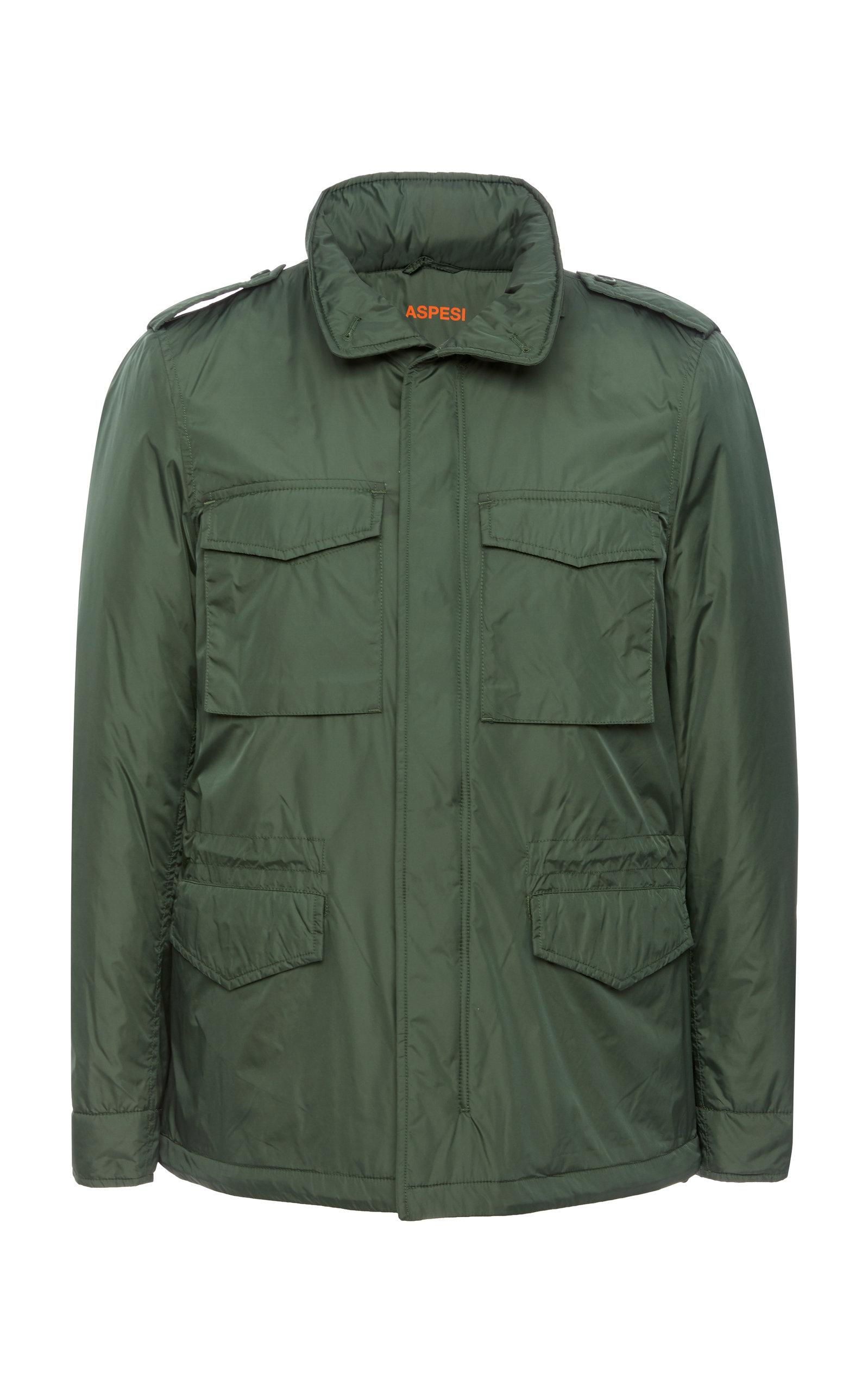 ASPESI Military-Style Jacket in Green