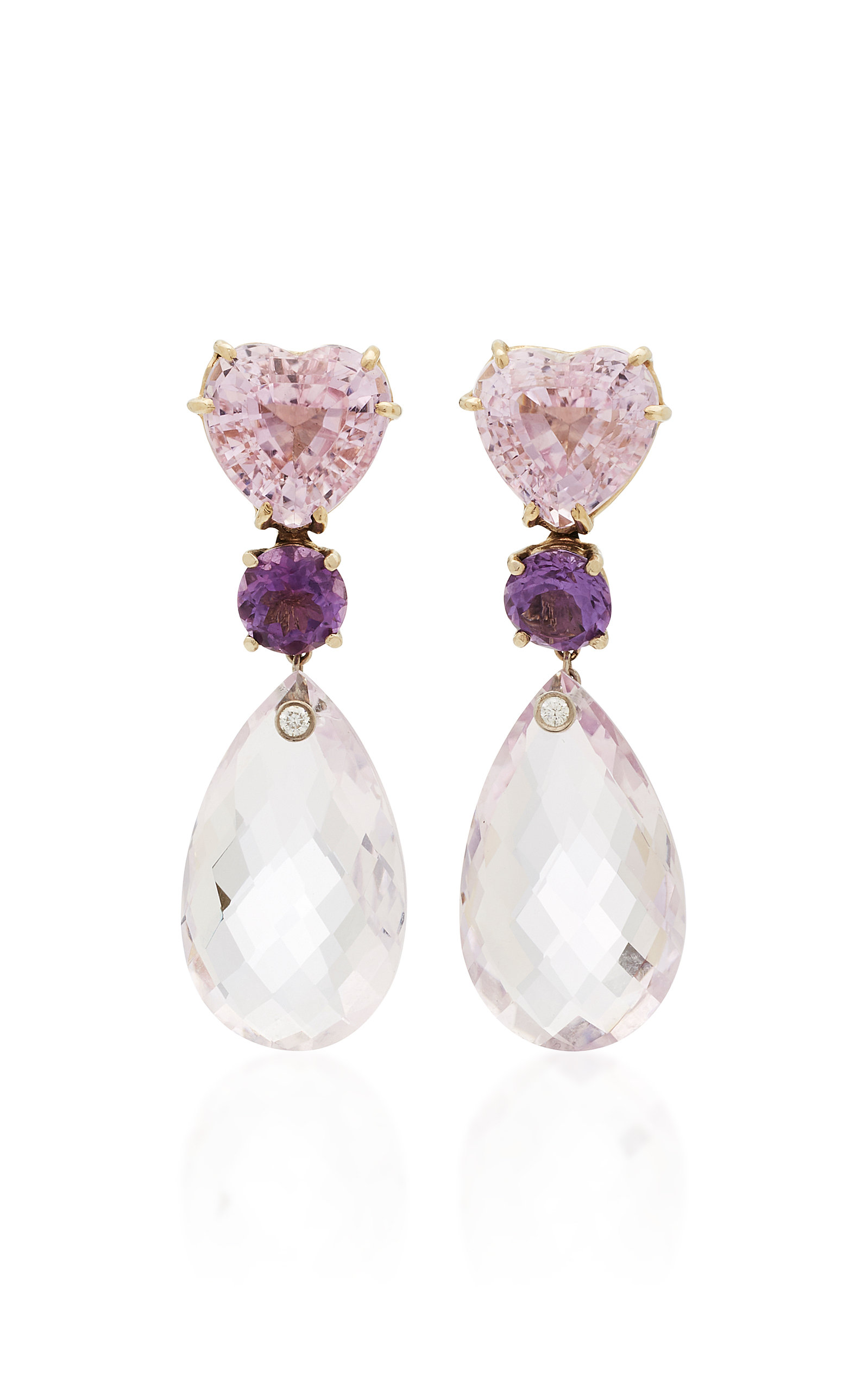 with london attachment earrings pink o gold blue portfolio drops and topaz kunzite