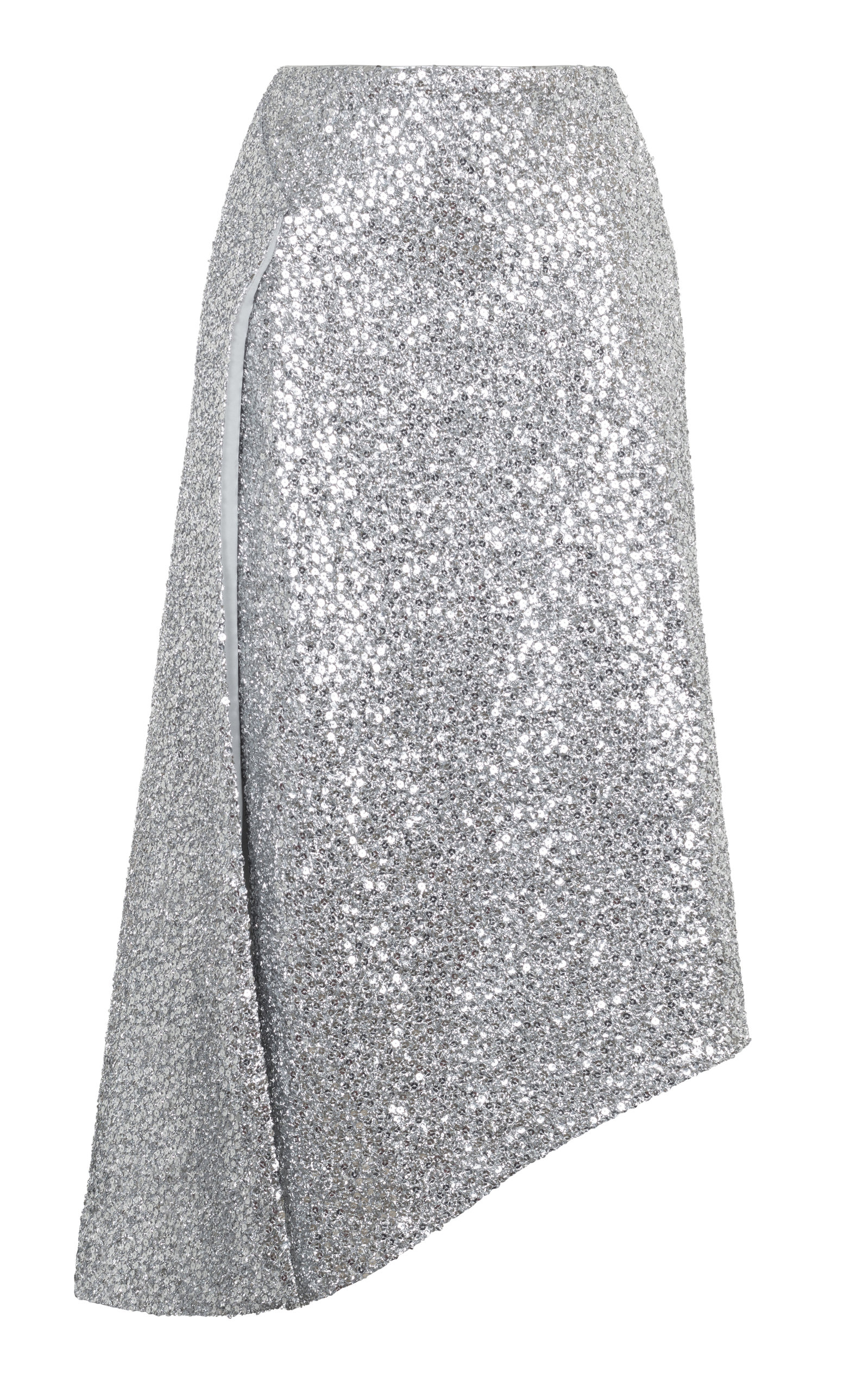 60% clearance discount coupon clearance prices Silver Sequin Midi Skirt