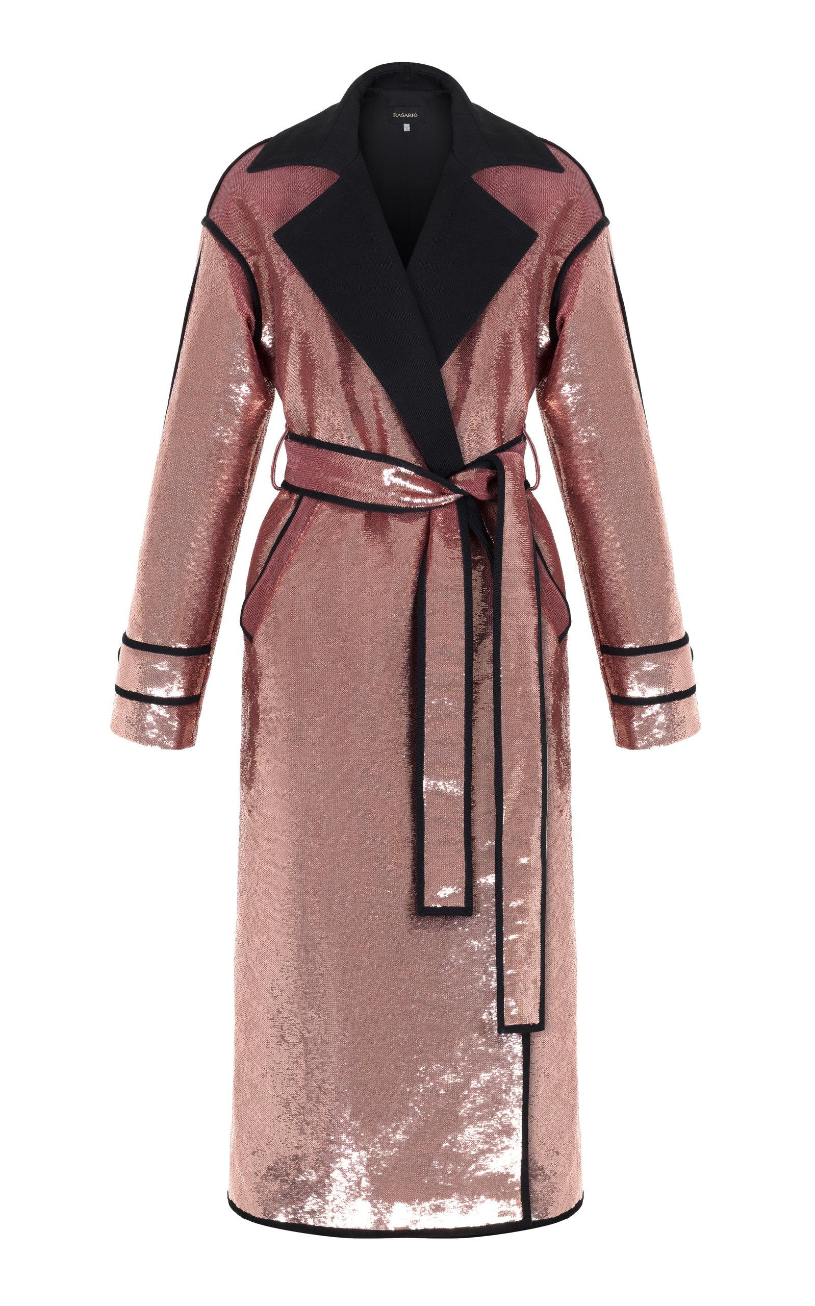 RASARIO Pink Sequin Coat