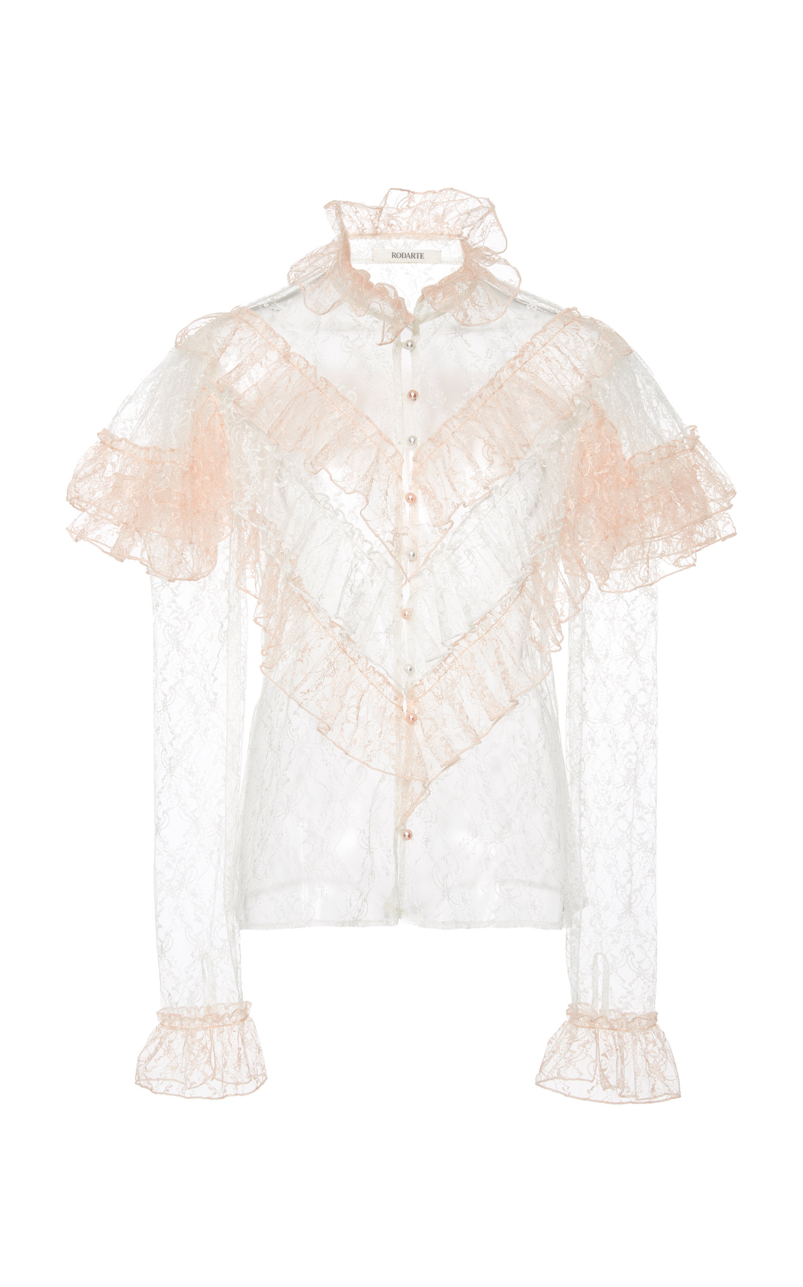Discount Brand New Unisex Shop Cold-Shoulder Ruffled Tulle Blouse Rodarte Discount With Mastercard GzzvfNlGPd