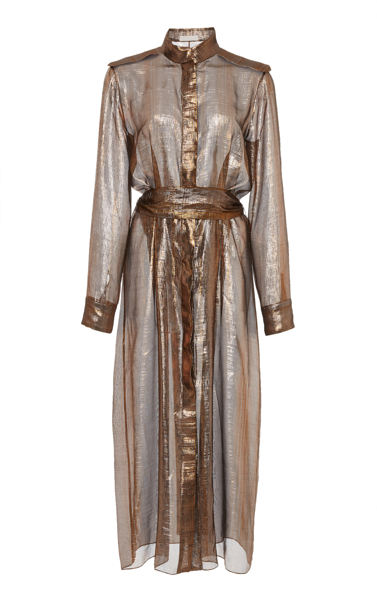 PARTOW BROOKLYN METALLIC SILK BLEND DRESS