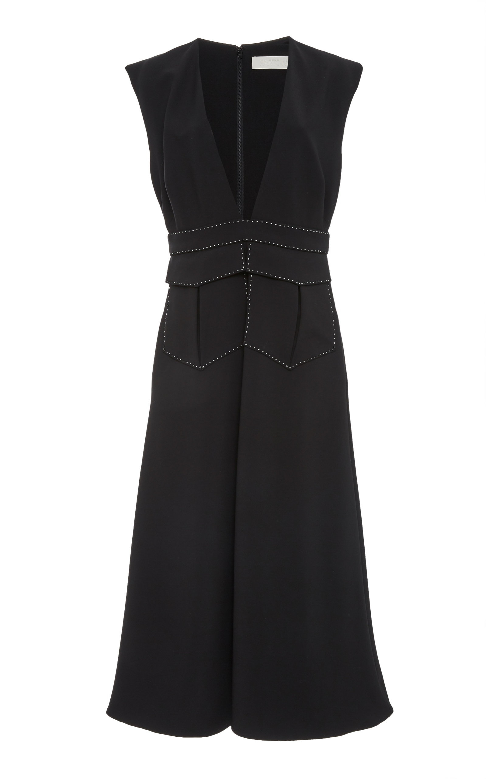 PARTOW NORA MATTE CREPE DRESS