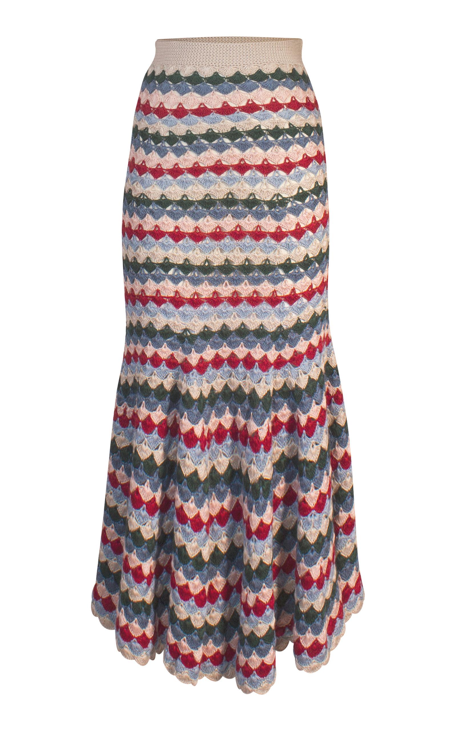 ALEJANDRA ALONSO ROJAS Jimena Crochet Skirt in Multi