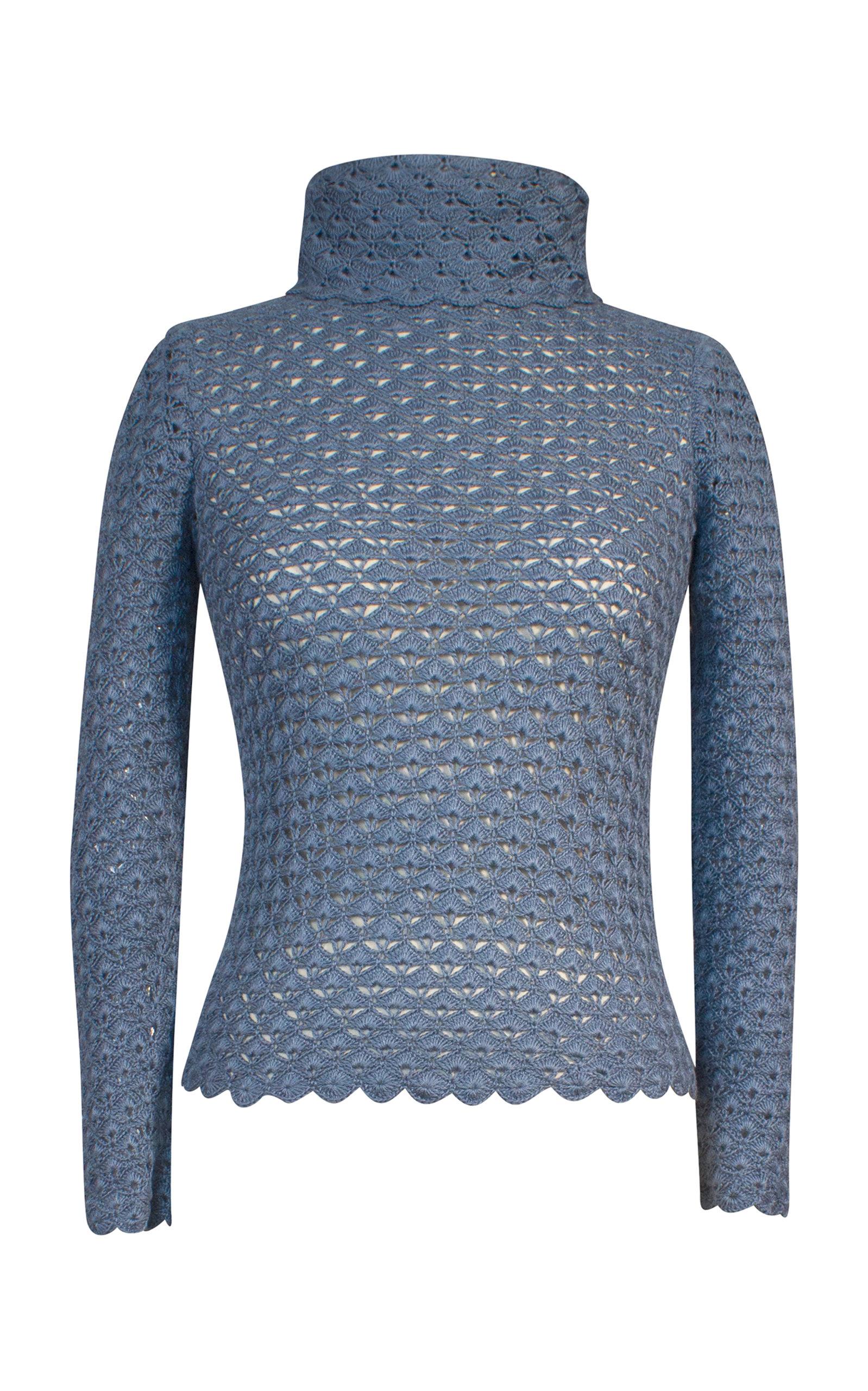 ALEJANDRA ALONSO ROJAS Anastasia Silk Pullover in Blue