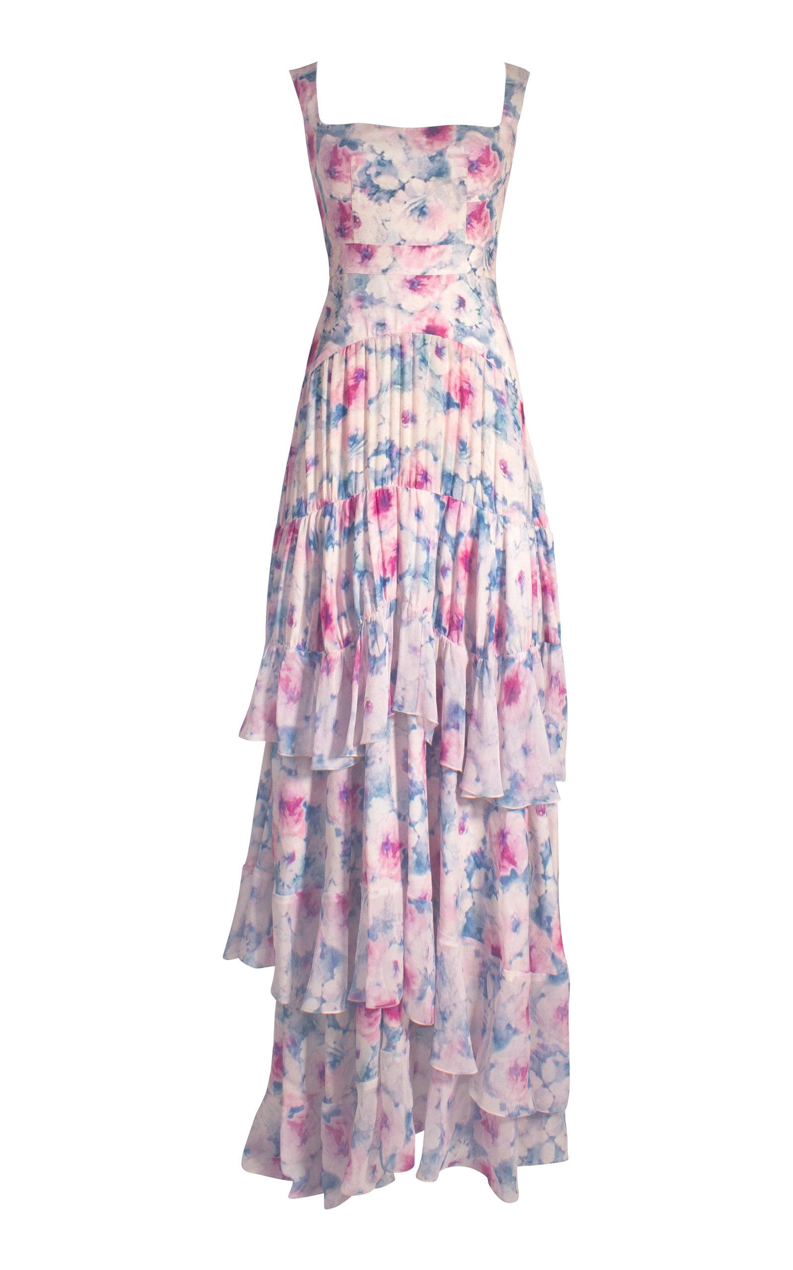 ALEJANDRA ALONSO ROJAS Mariola Floral Silk Gown