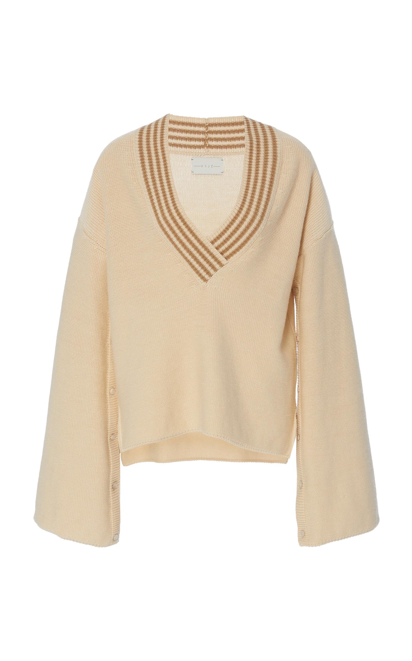 Blend The Neck Sweater V Arje White Wool Formantera In zTpq11Xx