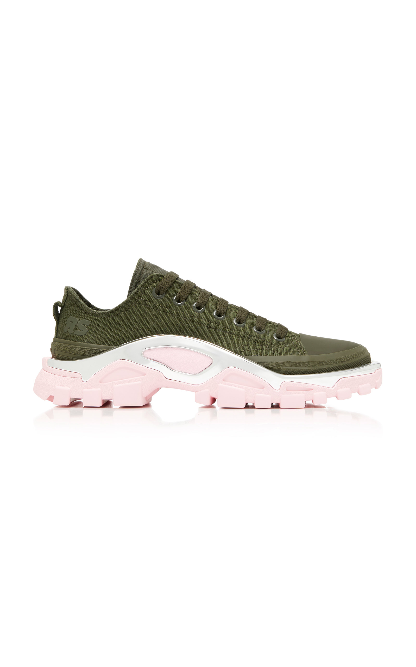Raf Simons For Adidas Women'S Rs Detroit Runner Lace Up Sneakers, Green