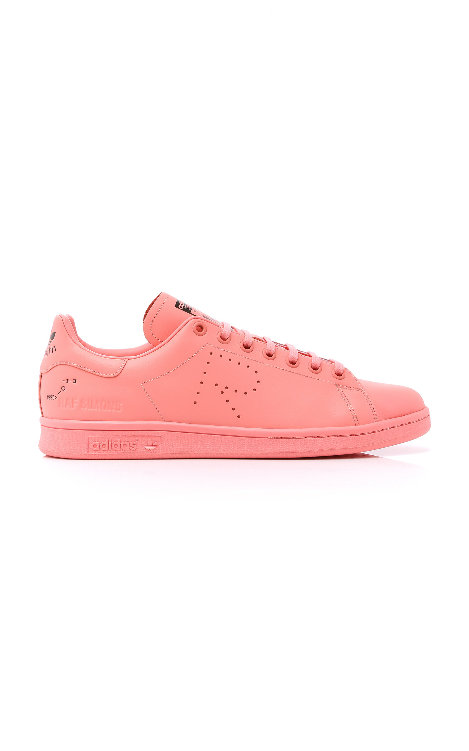 ADIDAS BY RAF SIMONS Unisex Stan Smith Leather Sneakers in Tacros/Blipnk/Ftwwht