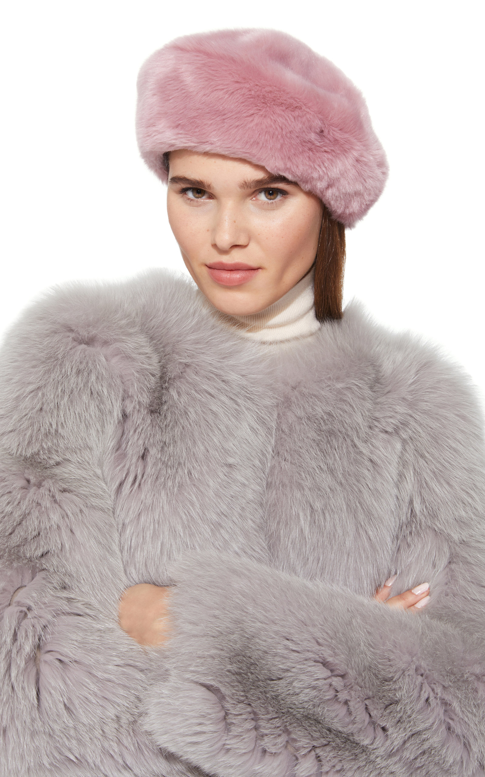 531f3540402 Mishka Faux Fur Beret by Eugenia Kim