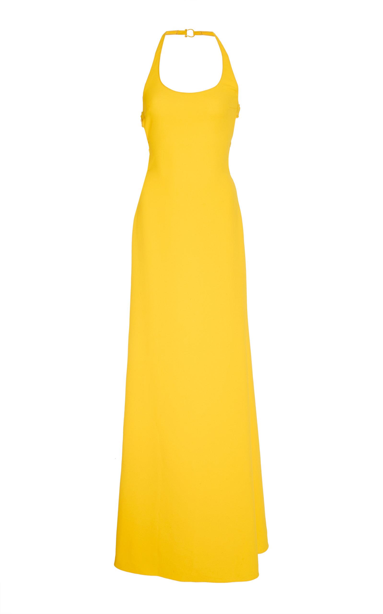 Ralph Lauren Montaine Evening Dress In Yellow
