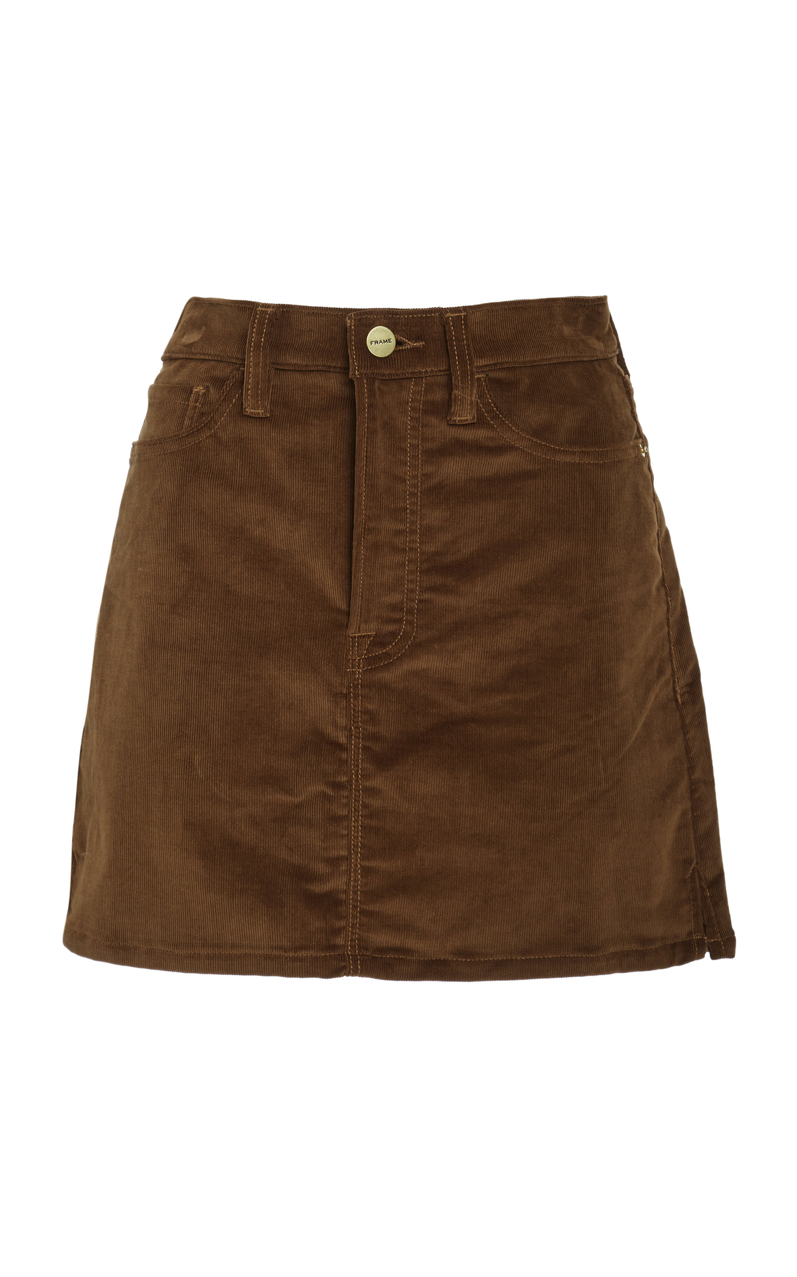 Le Mini Stretch Cotton-Blend Corduroy Mini Skirt, Brown