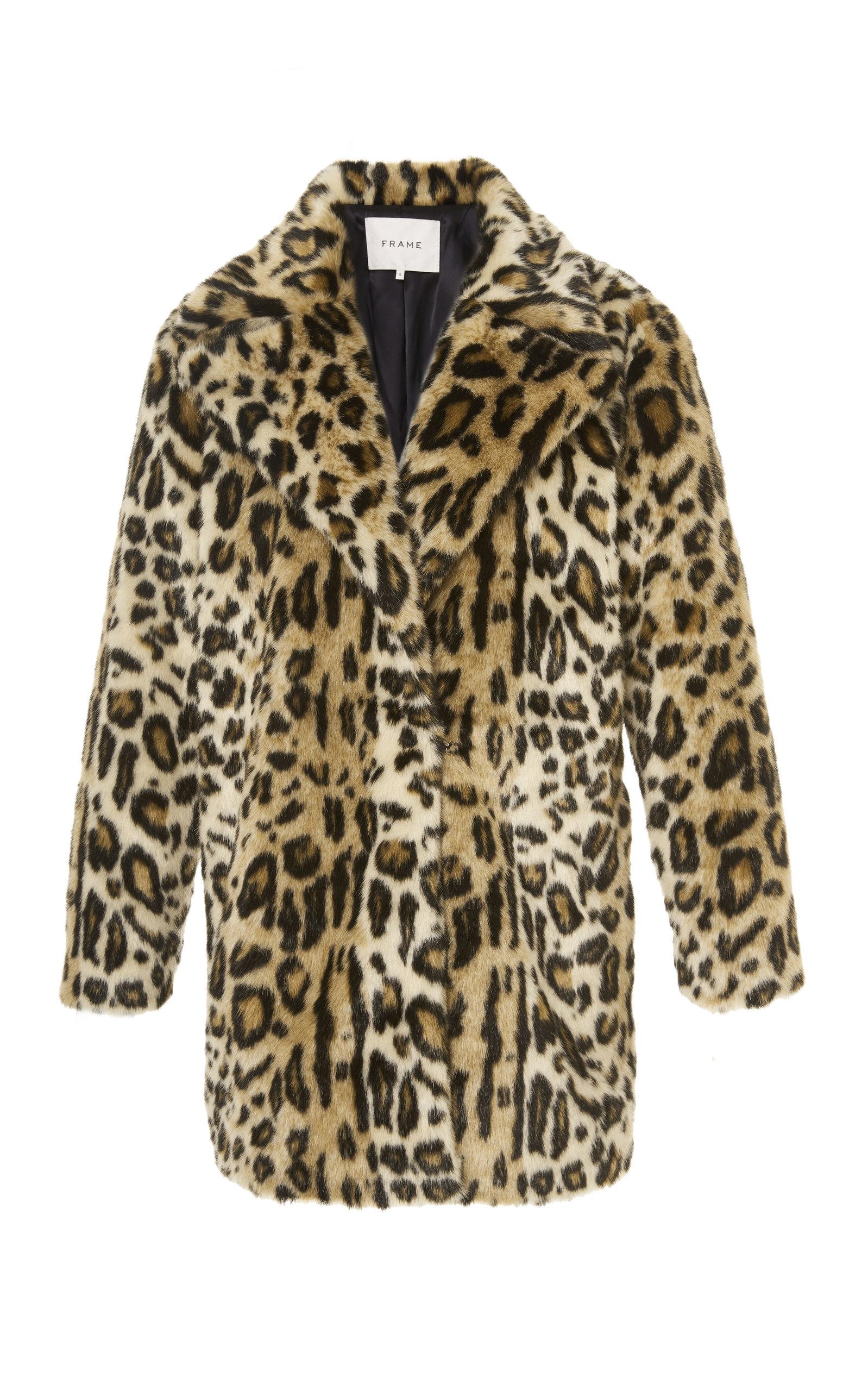 Cheetah Faux Fur Coat by Frame Denim | Moda Operandi