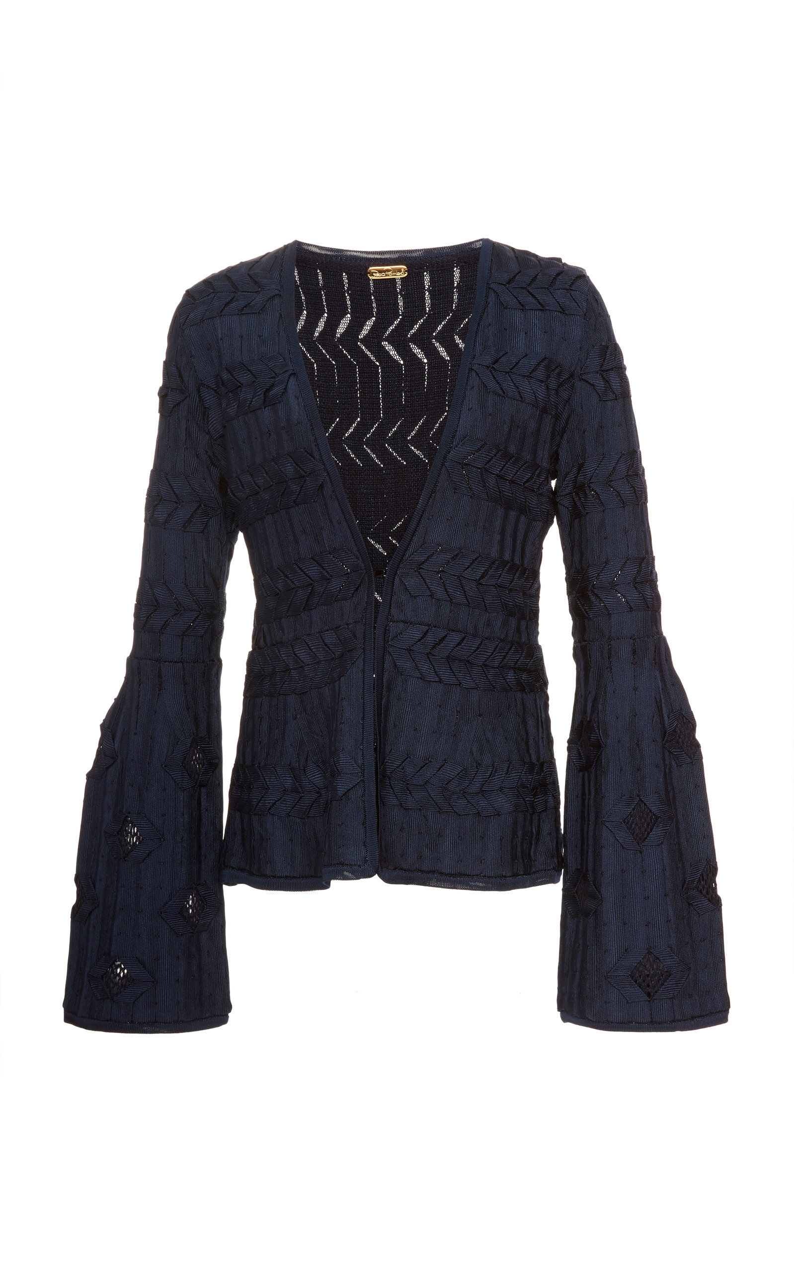PEPA POMBO Cambridge Fitted Jacket in Navy