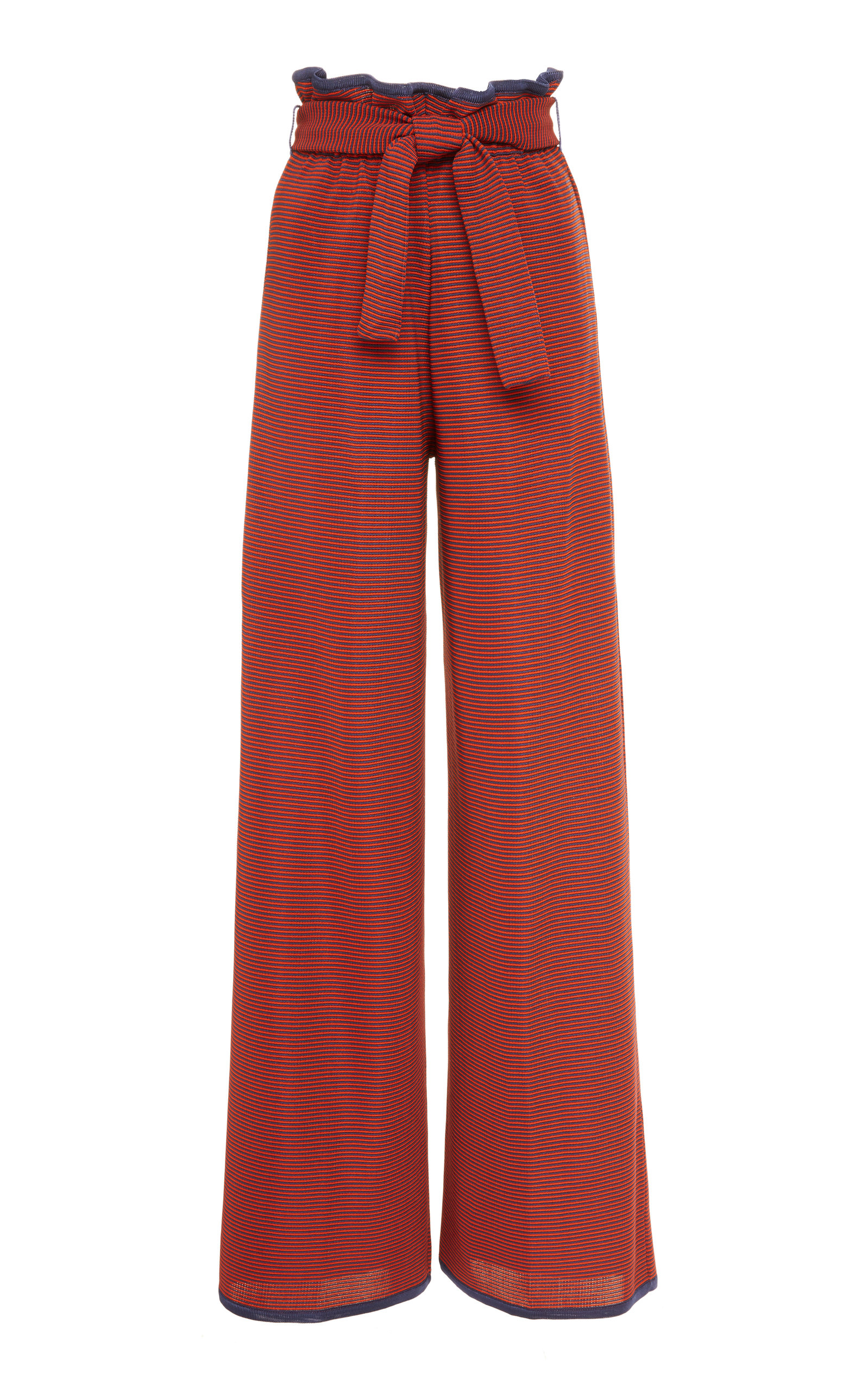 PEPA POMBO Violet Belted Pants in Burgundy