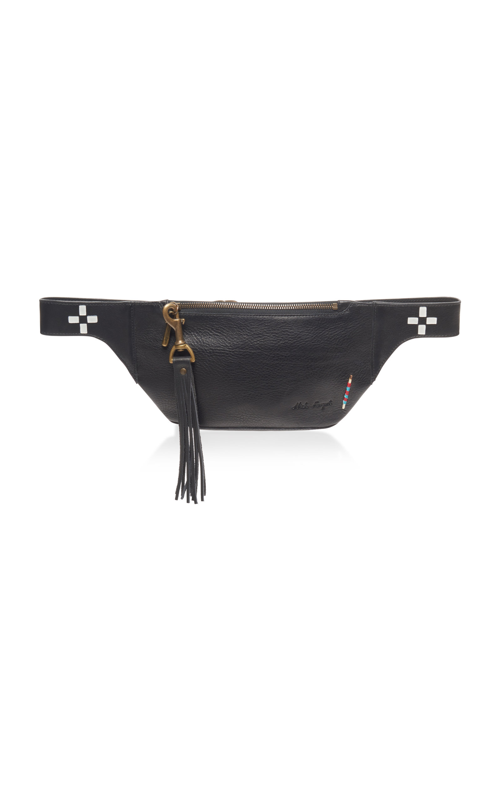 NICK FOUQUET HAND-PAINTED LEATHER FANNY PACK