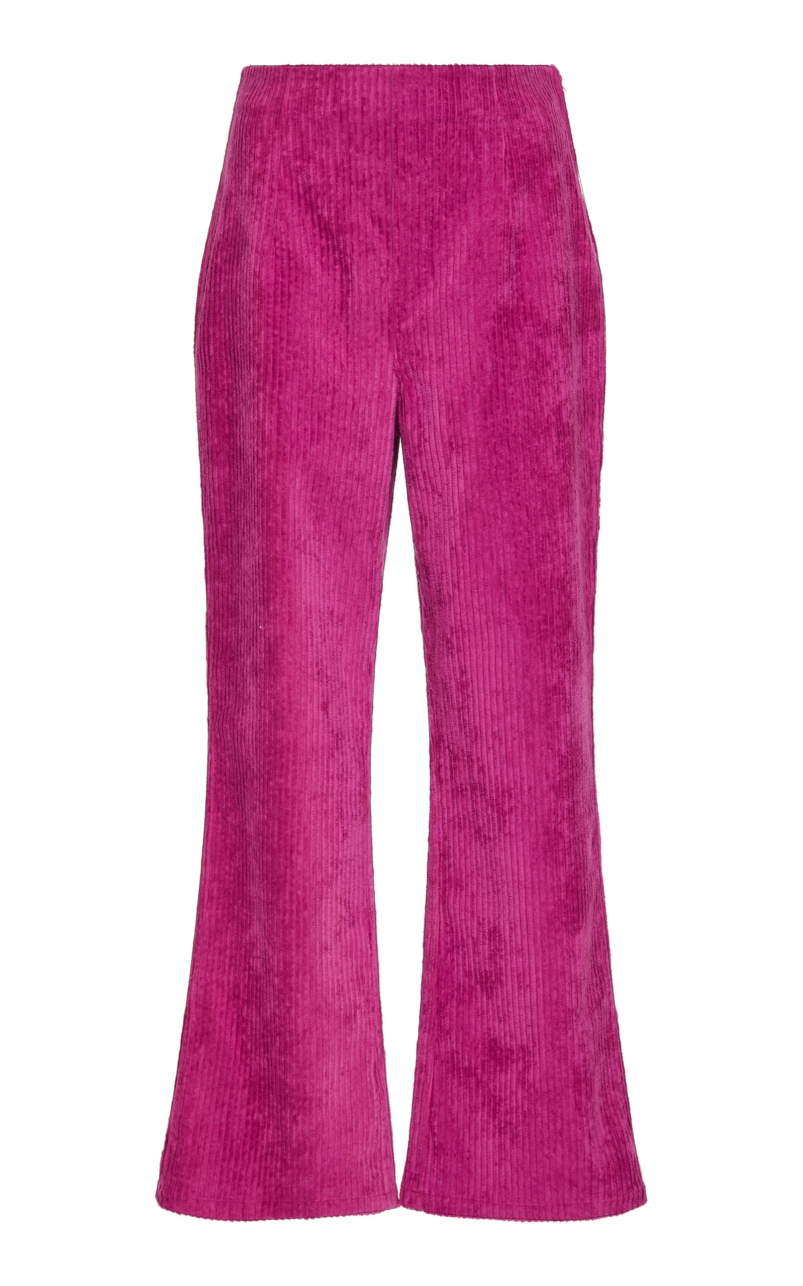 MARA HOFFMAN LUCY HIGH-WAISTED FLARED CORDUROY PANTS
